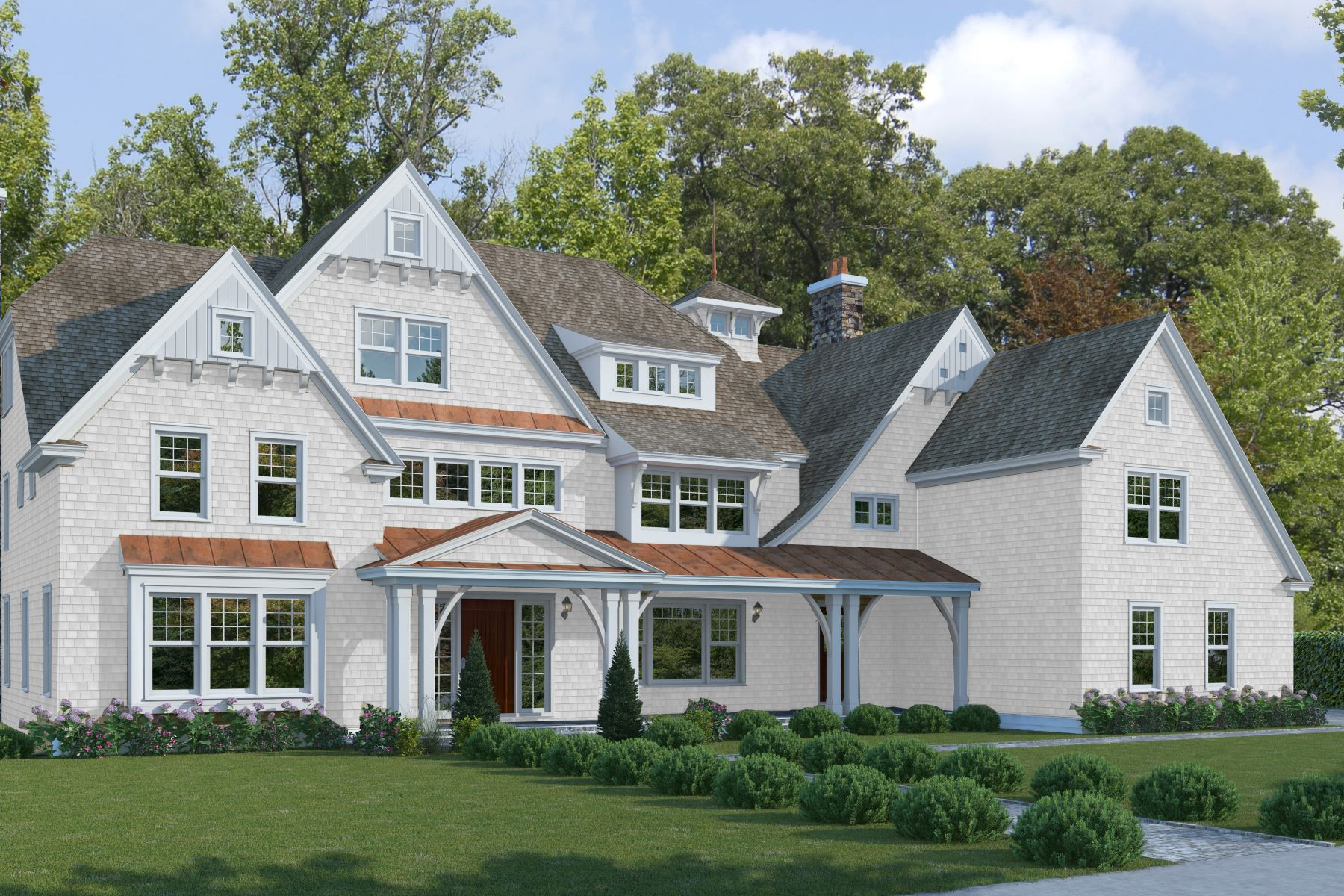 Single Family Homes для того Продажа на Extraordinary New Construction 729 Smith Ridge Road, New Canaan, Коннектикут 06840 Соединенные Штаты