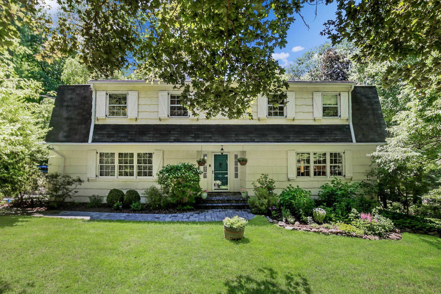 Single Family Homes for Sale at Privacy Abounds at this Updated Colonial! 12 James Road Mount Kisco, New York 10549 United States