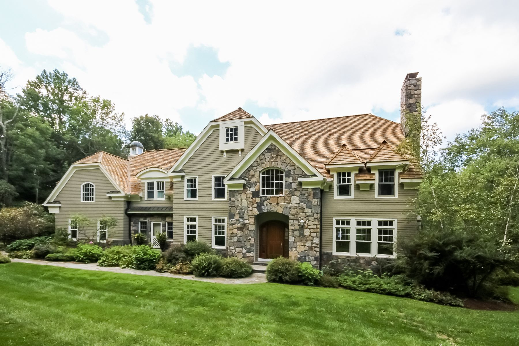 Single Family Home for Sale at Sophisticated Shingle Style Home 15 Cedar Ln Ridgefield, Connecticut, 06877 United States