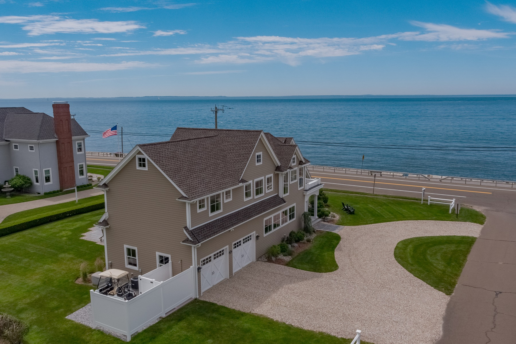 Single Family Homes للـ Sale في Unobstructed Views of Long Island Sound 450 Maple Avenue, Old Saybrook, Connecticut 06475 United States