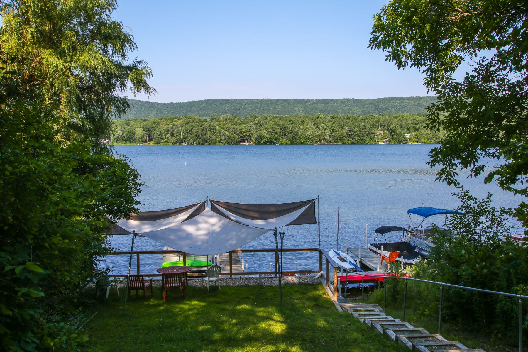 Single Family Home for Sale at Stunning Contemporary with Deeded Lake and Boat Access 29 Mahkeenac Rd Stockbridge, Massachusetts 01262 United States