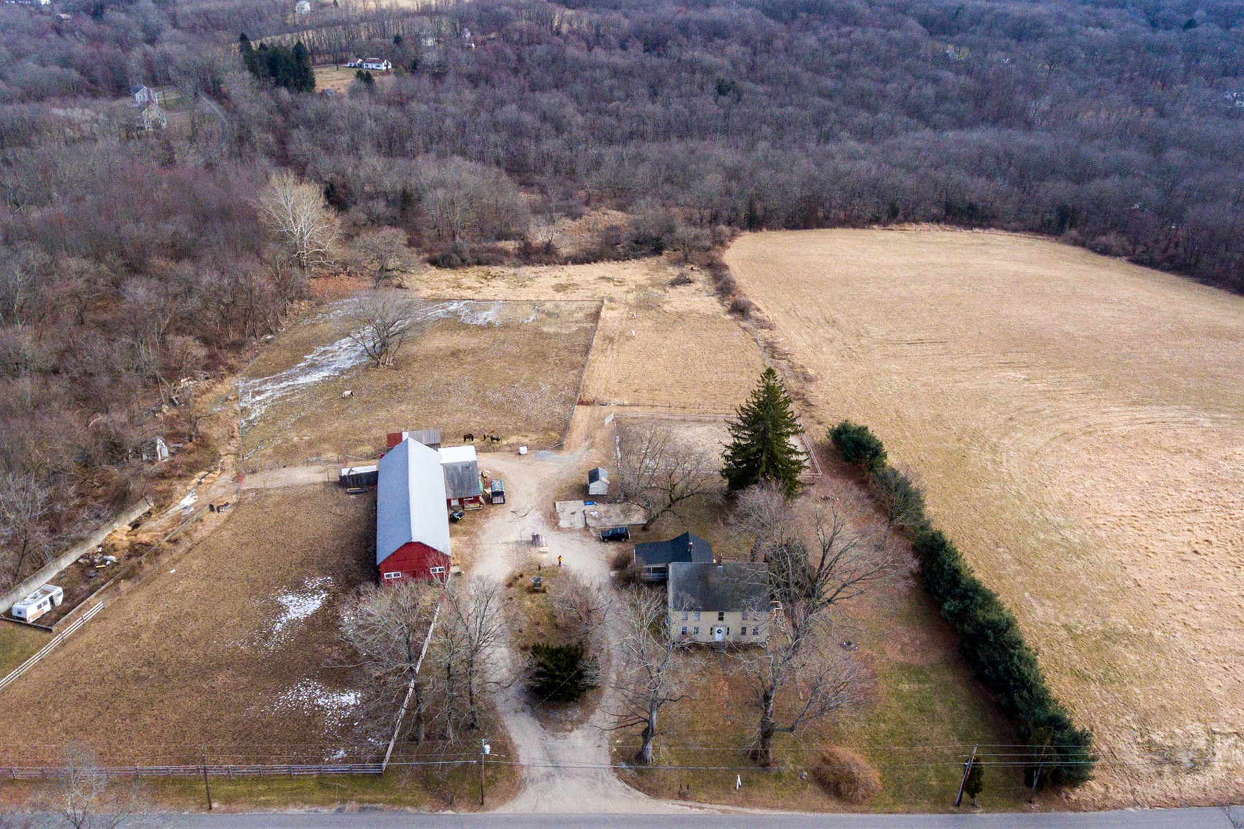 Farm / Ranch / Plantation for Sale at Beautiful Antique Farm on 9 Flat Private Acres 464 Kick Hill Road, Lebanon, Connecticut 06249 United States