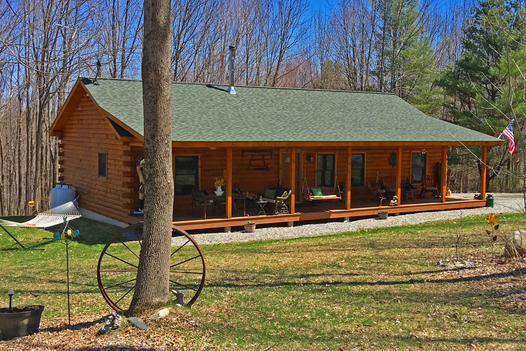 Single Family Home for Sale at Wonderfully Built and Maintained Log Home with Incredible Views 32 Blair Rd Blandford, Massachusetts 01008 United States