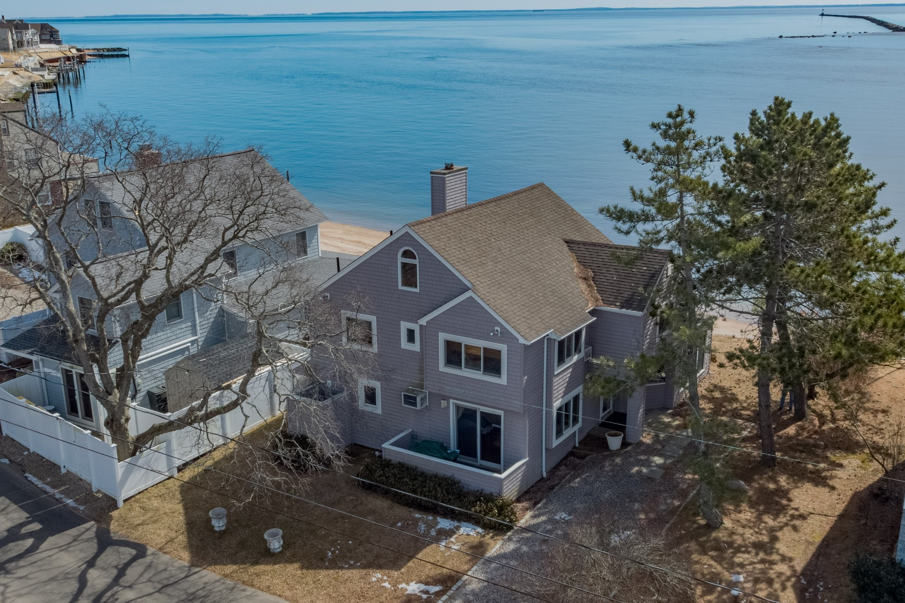 Single Family Homes for Sale at Waterfront Beach Home with Sandy Beach 49 Hammock Road Clinton, Connecticut 06413 United States