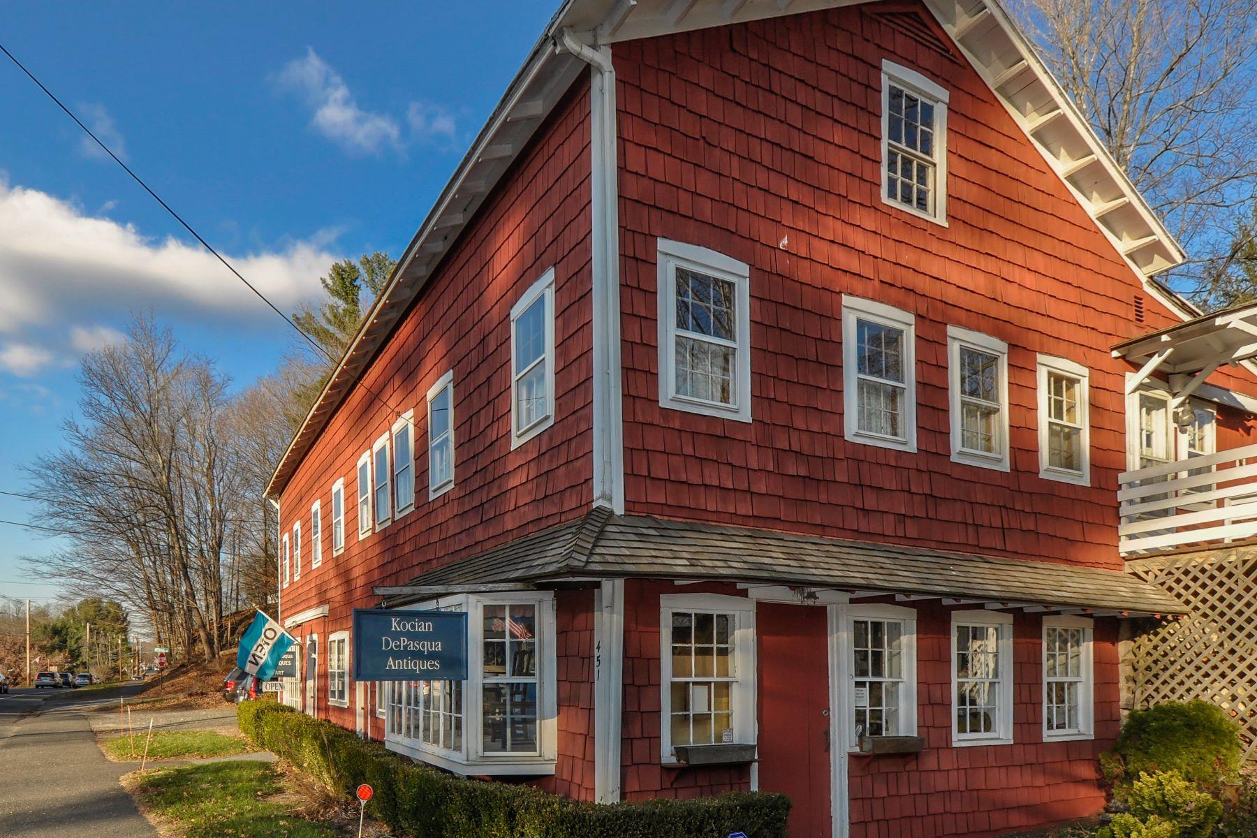 Maison multifamiliale pour l Vente à Live and Work in Woodbury 451 Main St Woodbury, Connecticut, 06798 États-Unis