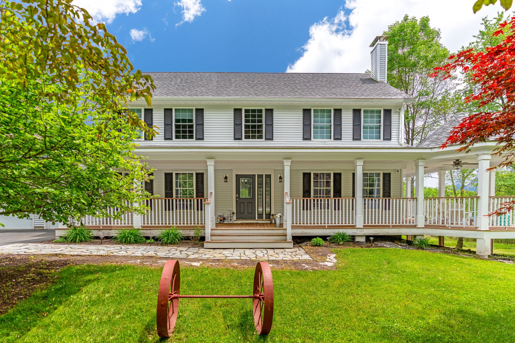 Single Family Homes for Sale at Contemporary Farmhouse in Private Setting in South Kent 25 Brown Road Kent, Connecticut 06785 United States