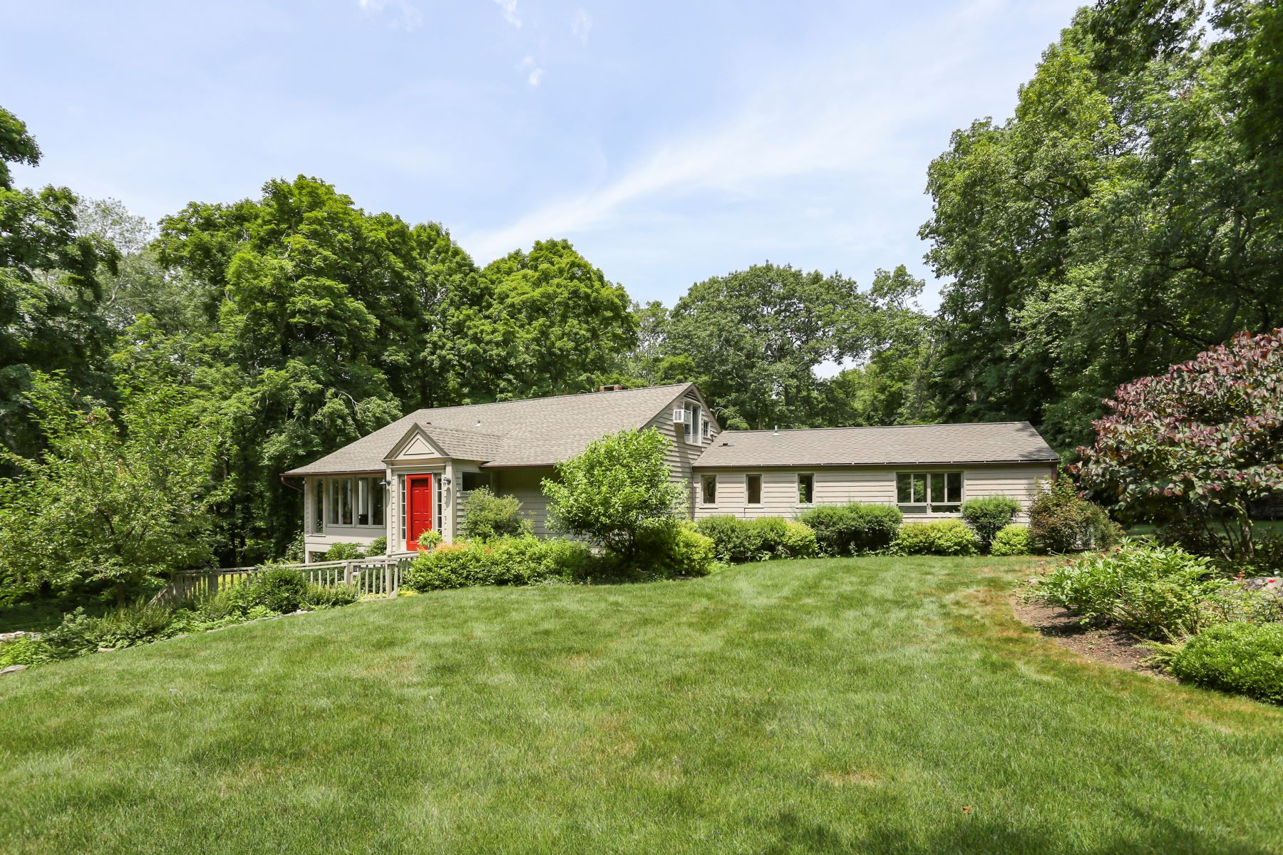 Single Family Homes for Sale at Enjoy This Charming Ranch Style Home 86 Godfrey Road West Weston, Connecticut 06883 United States