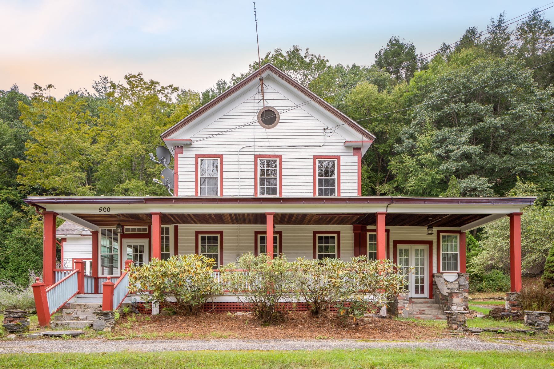 Single Family Home for Active at Historic Country Farmhouse with Stream Frontage 500 East River Rd Chester, Massachusetts 01011 United States