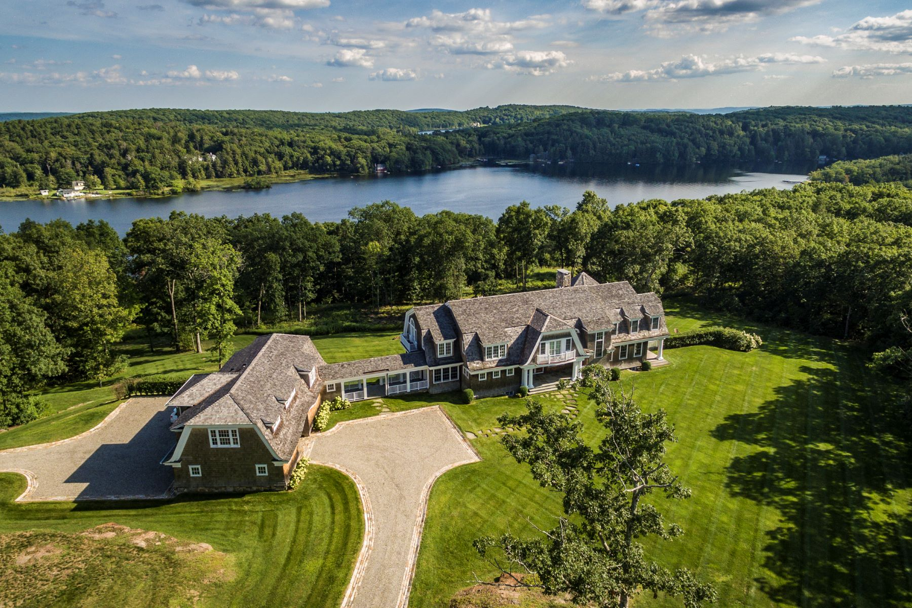 Single Family Home for Sale at Lake Front Shingle Style 200 Kenmont Rd Kent, Connecticut, 06757 United States