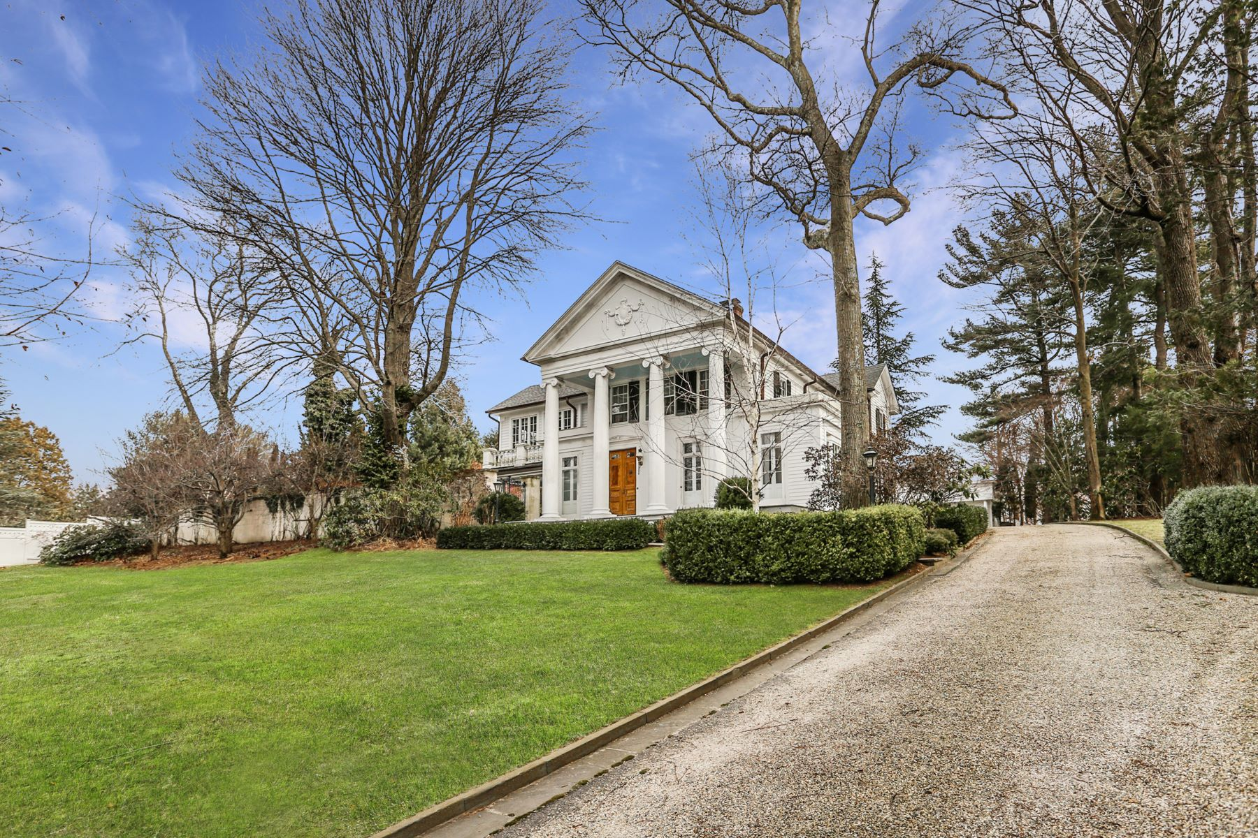 Single Family Homes for Sale at Stately Greek Revival on Sasco Hill 817 Sasco Hill Road Fairfield, Connecticut 06824 United States