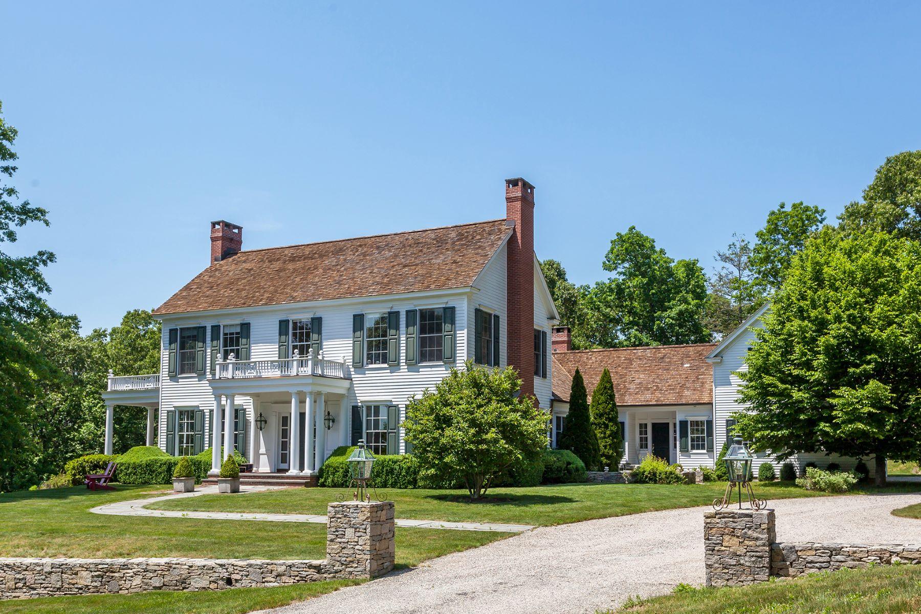 独户住宅 为 出租 在 Classically Refined 36 Southbury Road, 罗克斯伯里, 康涅狄格州, 06783 美国