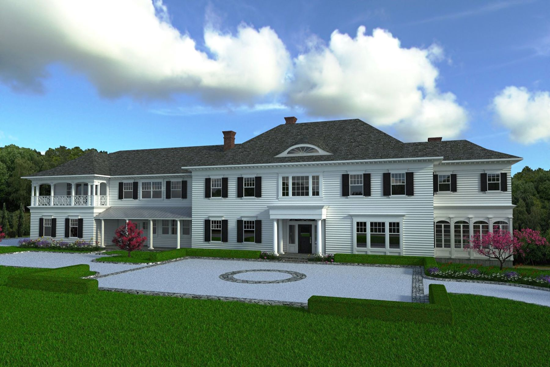 Single Family Home for Sale at Refined Elegance and Luxurious Amenities 549 Oenoke Ridge New Canaan, Connecticut 06840 United States