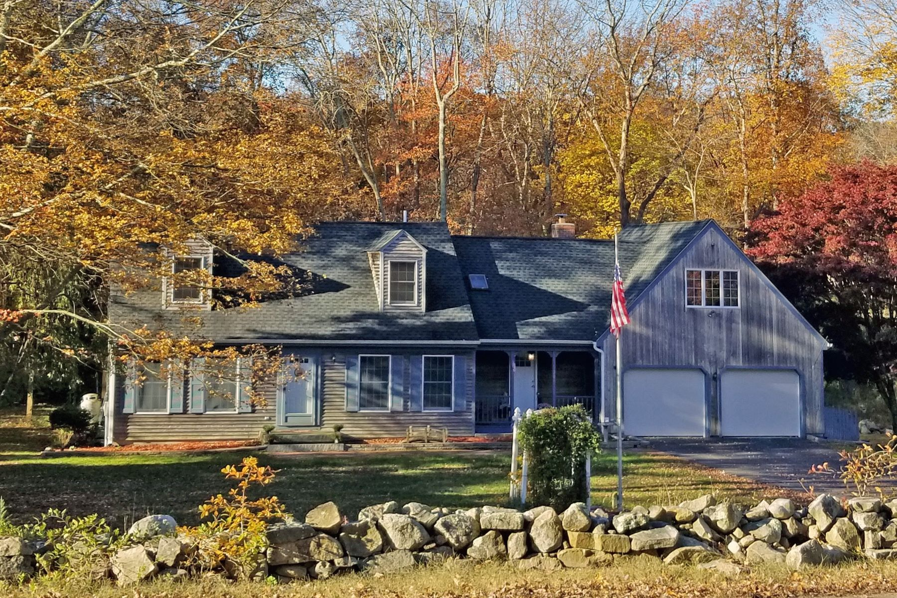Single Family Homes for Sale at Large Cape in Rural Setting 1200 Route 163 Montville, Connecticut 06370 United States
