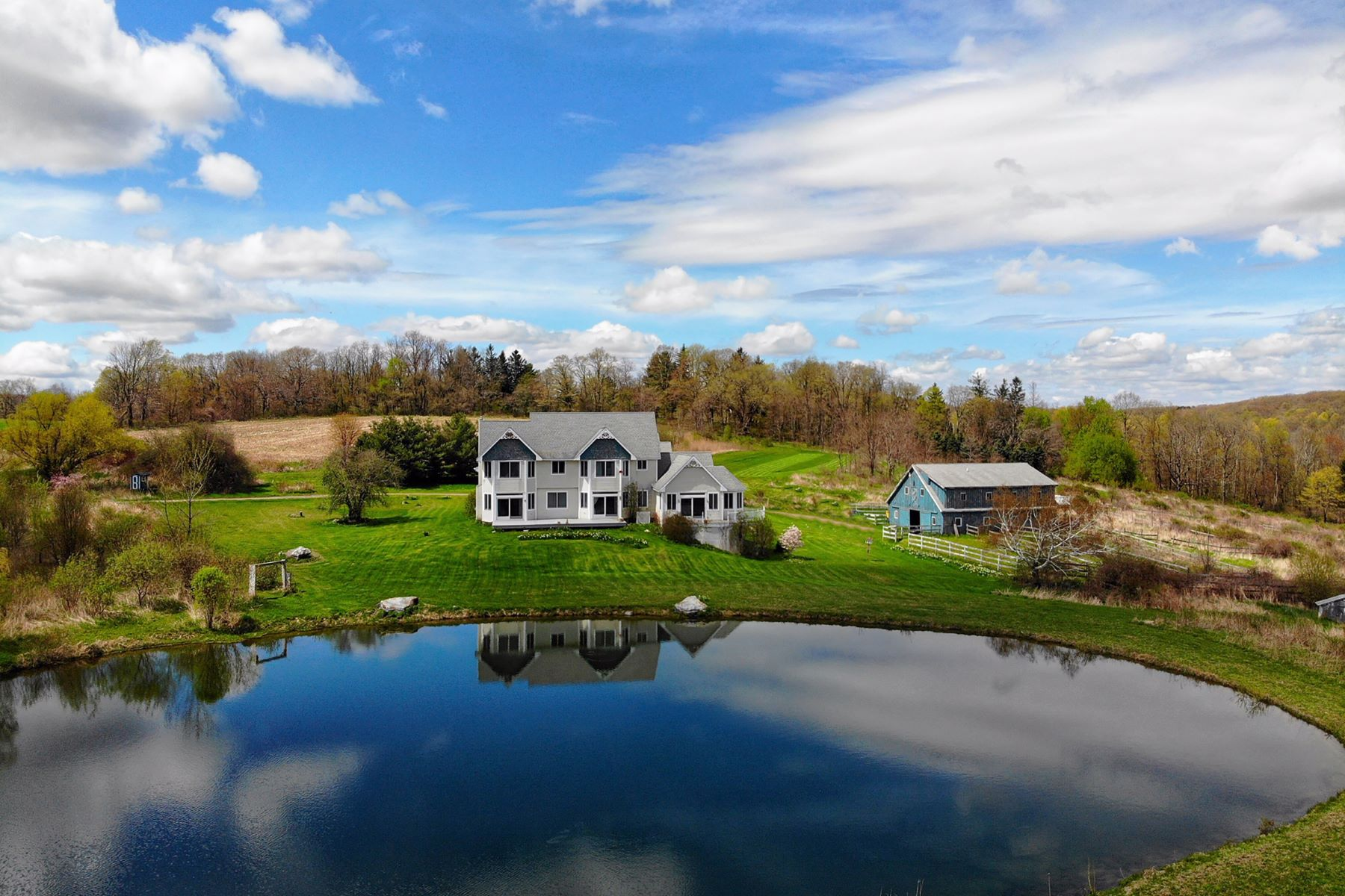 Single Family Homes for Sale at Expansive, Rare, Southeast, Views of the Taconic Range from Winchell Mountain 96 Ballymount Drive Ancram, New York 12502 United States