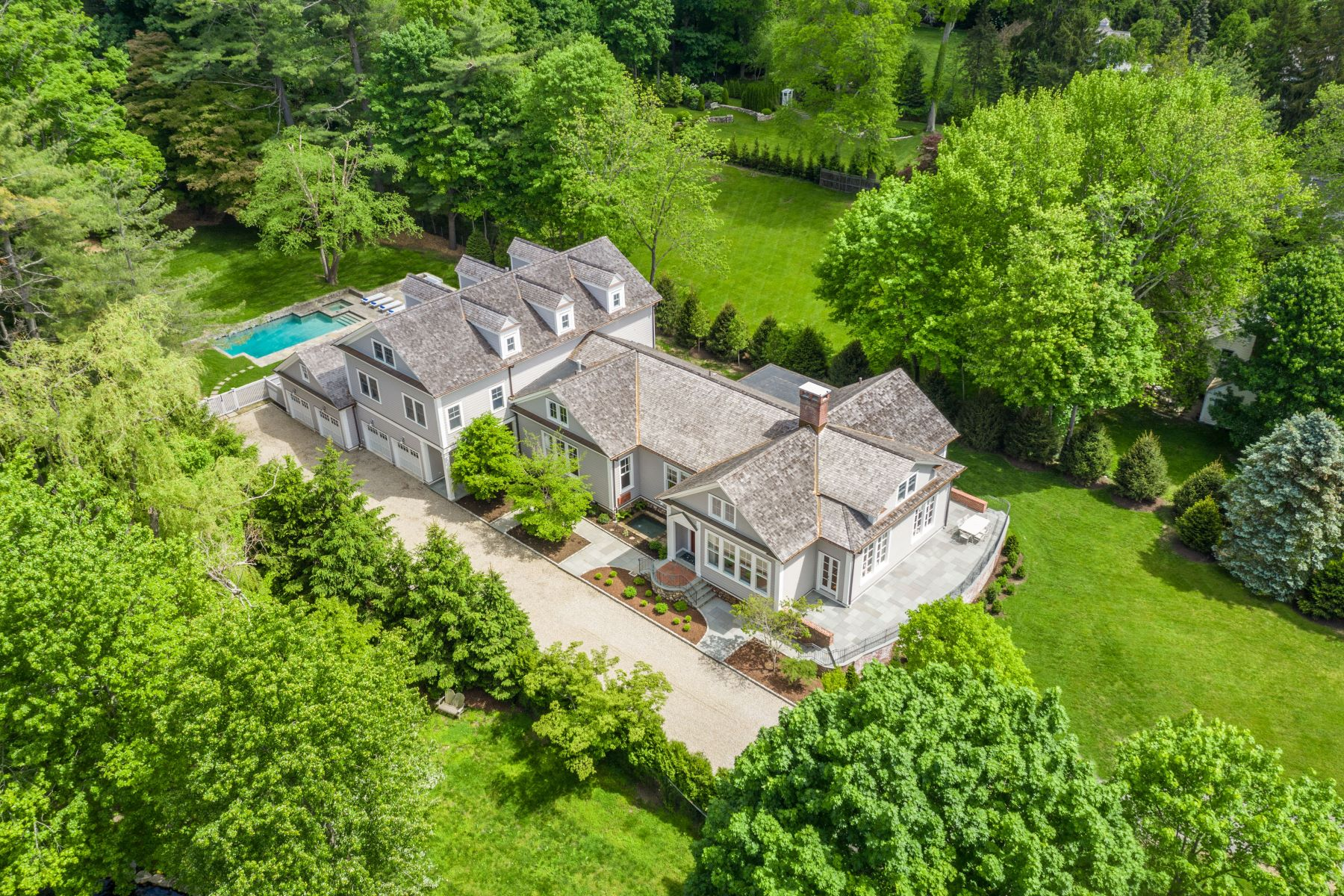 Single Family Homes for Sale at Tucked Away in the Heart of Greens Farms 37 Clapboard Hill Road Westport, Connecticut 06880 United States