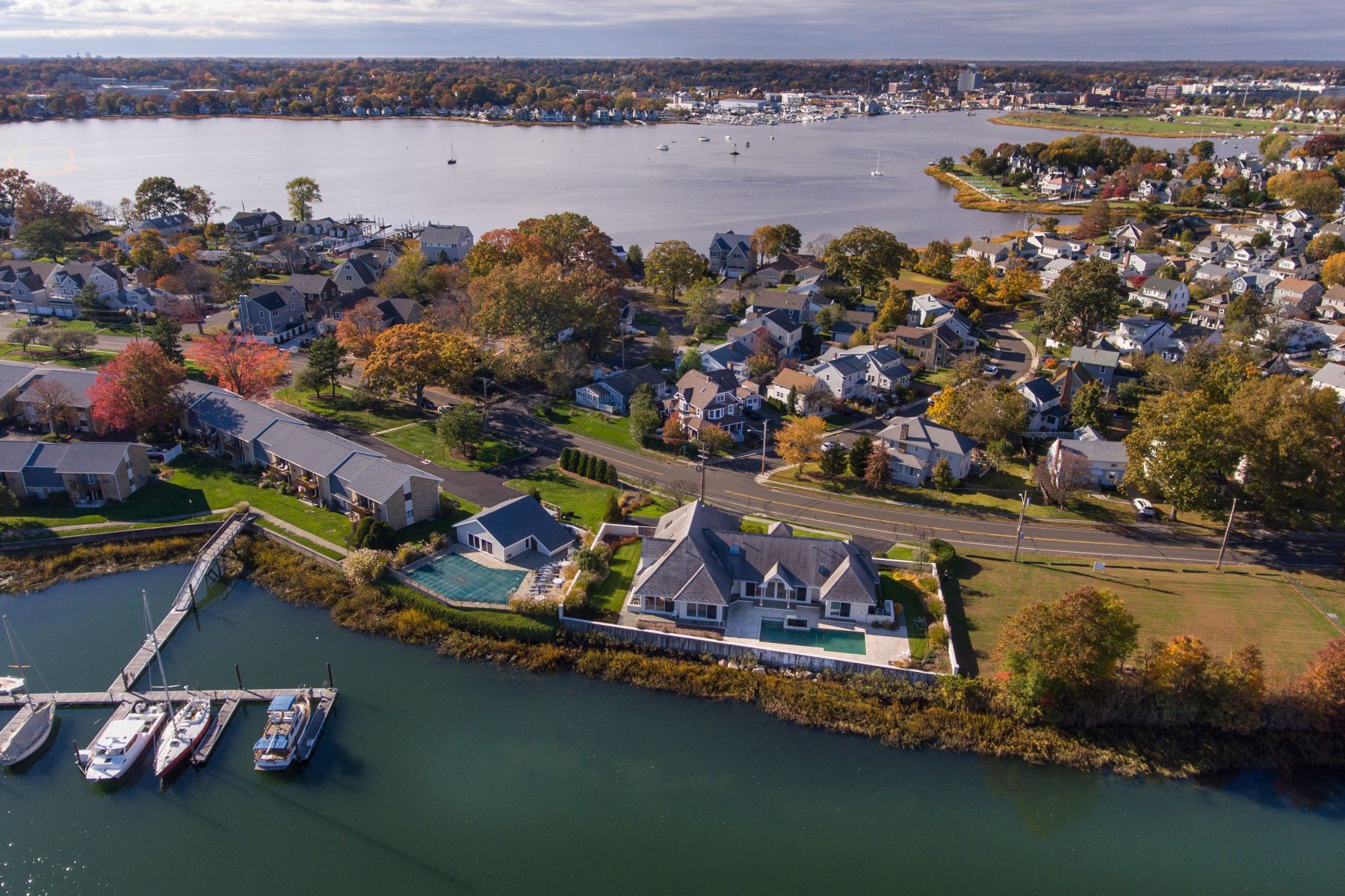 Single Family Homes for Sale at Enjoy Spectacular Waterfront Living 161-165 Gregory Boulevard Norwalk, Connecticut 06855 United States
