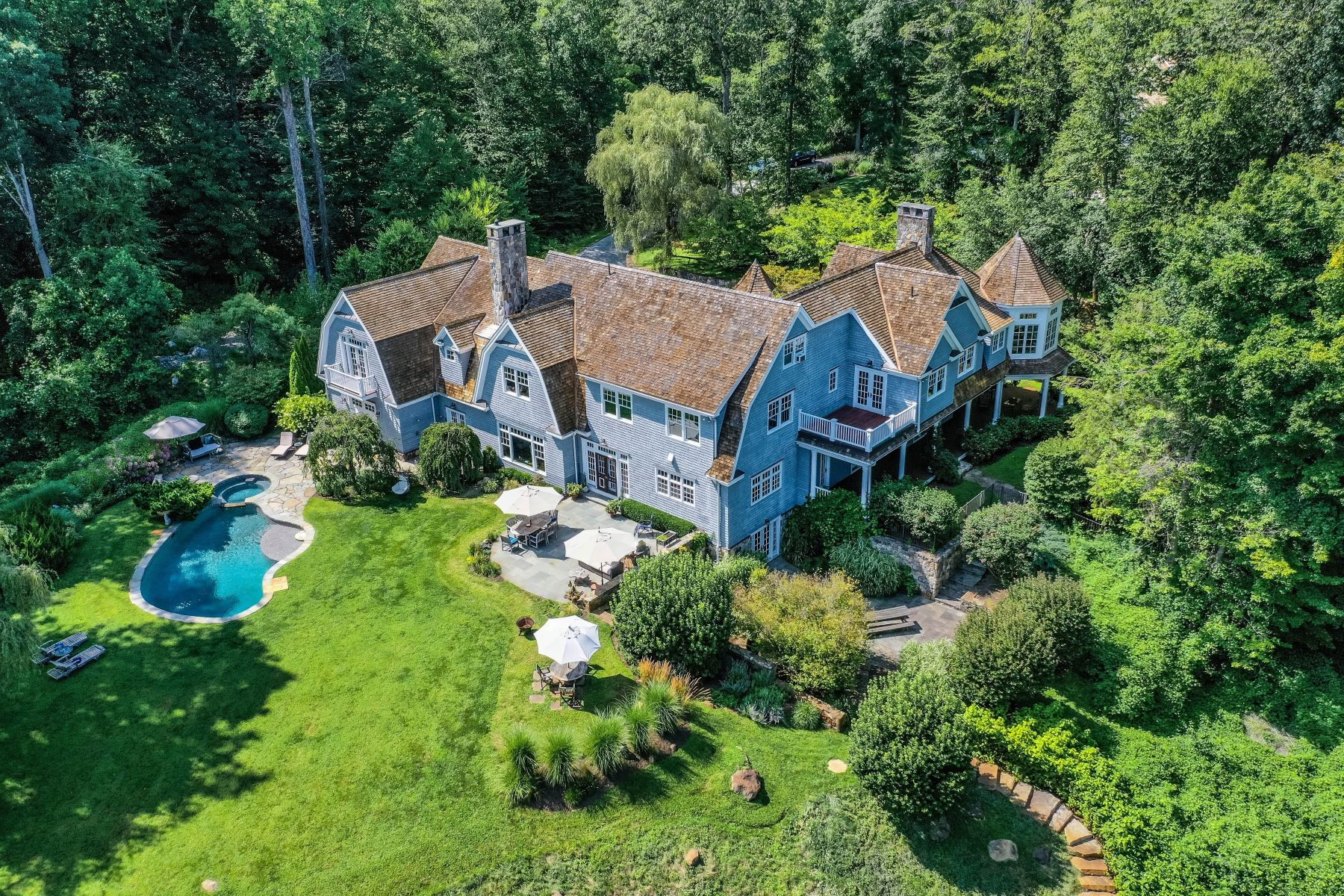 Single Family Homes for Sale at Enchanting Retreat with Magnificent Views 36 Michaels Way Weston, Connecticut 06883 United States