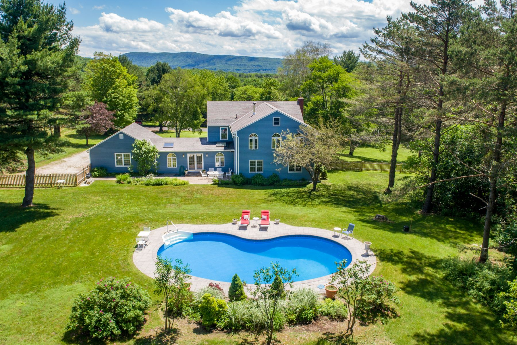 Single Family Home for Sale at Classic Colonial with Privacy and Pool 91 Deer Hill Rd Richmond, Massachusetts 01254 United States
