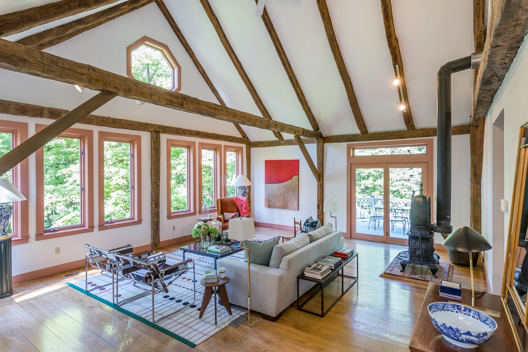 Single Family Homes for Sale at Cobble Brook Contemporary 123 Segar Mountain Road Kent, Connecticut 06757 United States