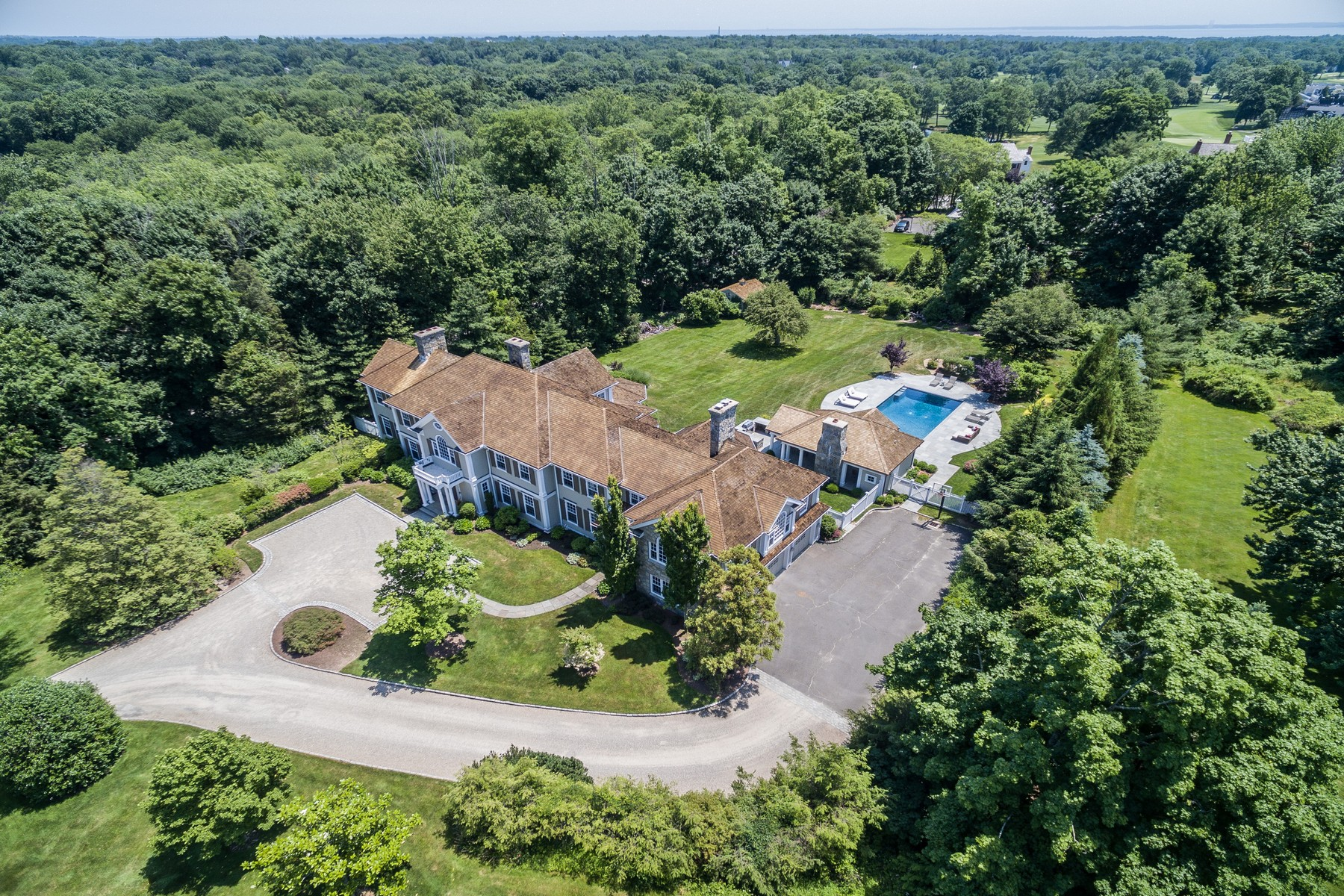 Single Family Home for Sale at Magnificent Darien Estate 38 Pembroke Road Darien, Connecticut, 06820 United States
