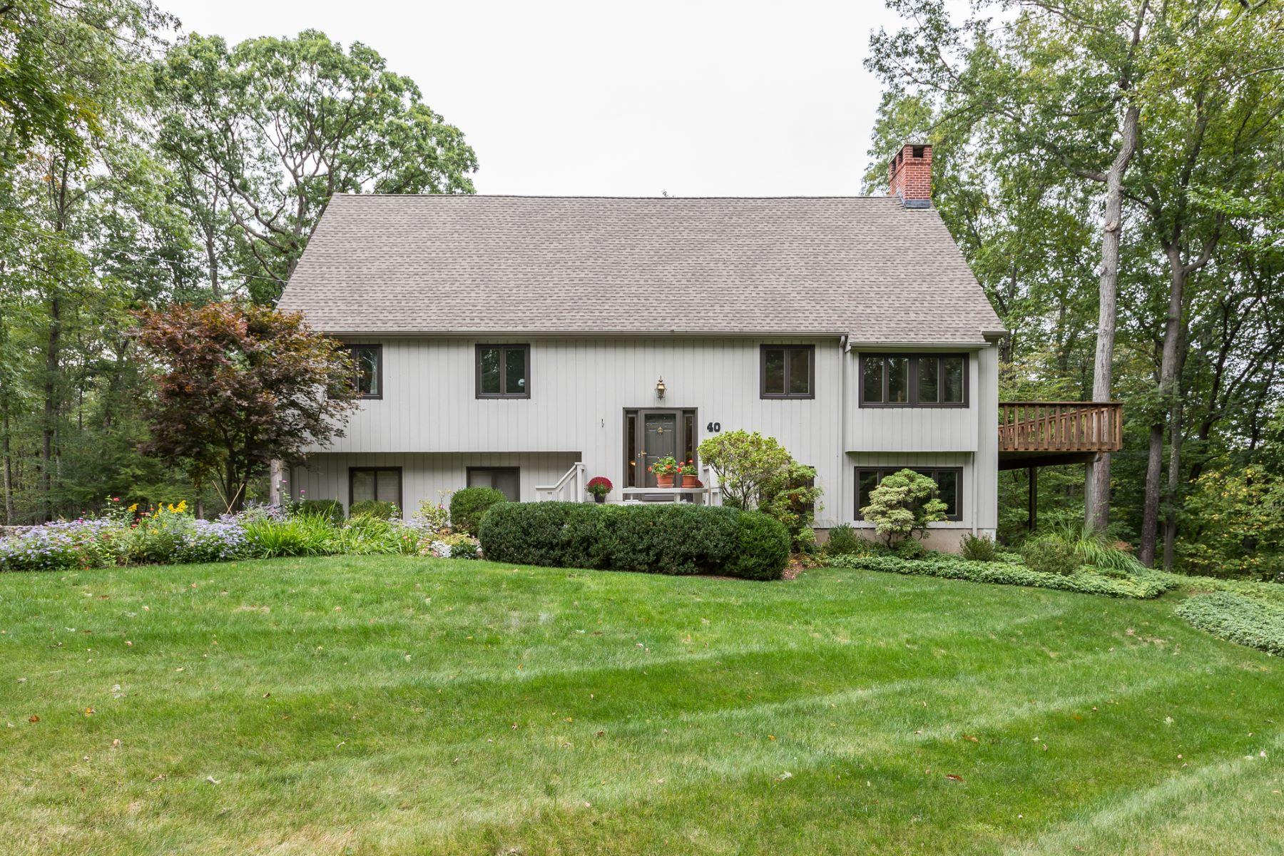 단독 가정 주택 용 매매 에 Dramatic Contemporary 40 Beechwood Lane, Ridgefield, 코네티컷, 06877 미국