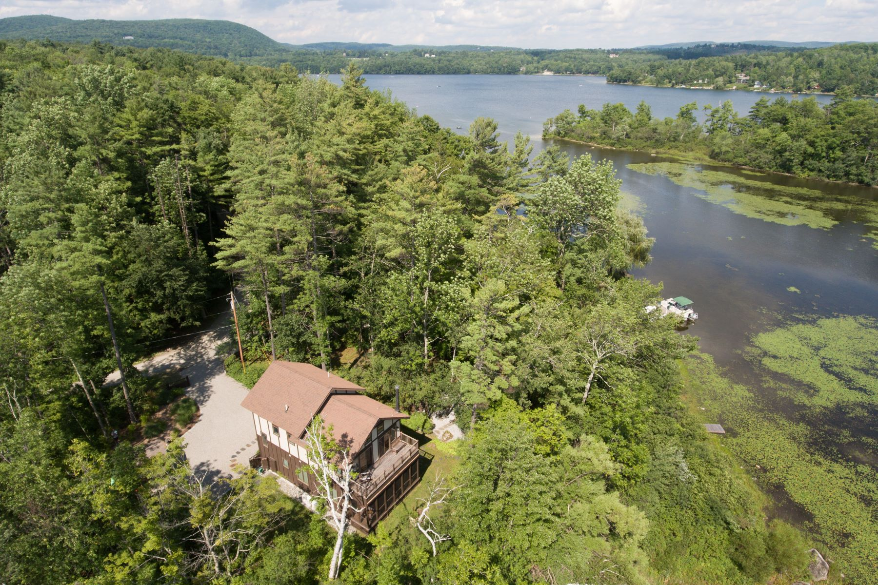 Single Family Home for Sale at Lakefront Paradise on Magical Stockbridge Bowl 44 Lake Dr Stockbridge, Massachusetts 01262 United States
