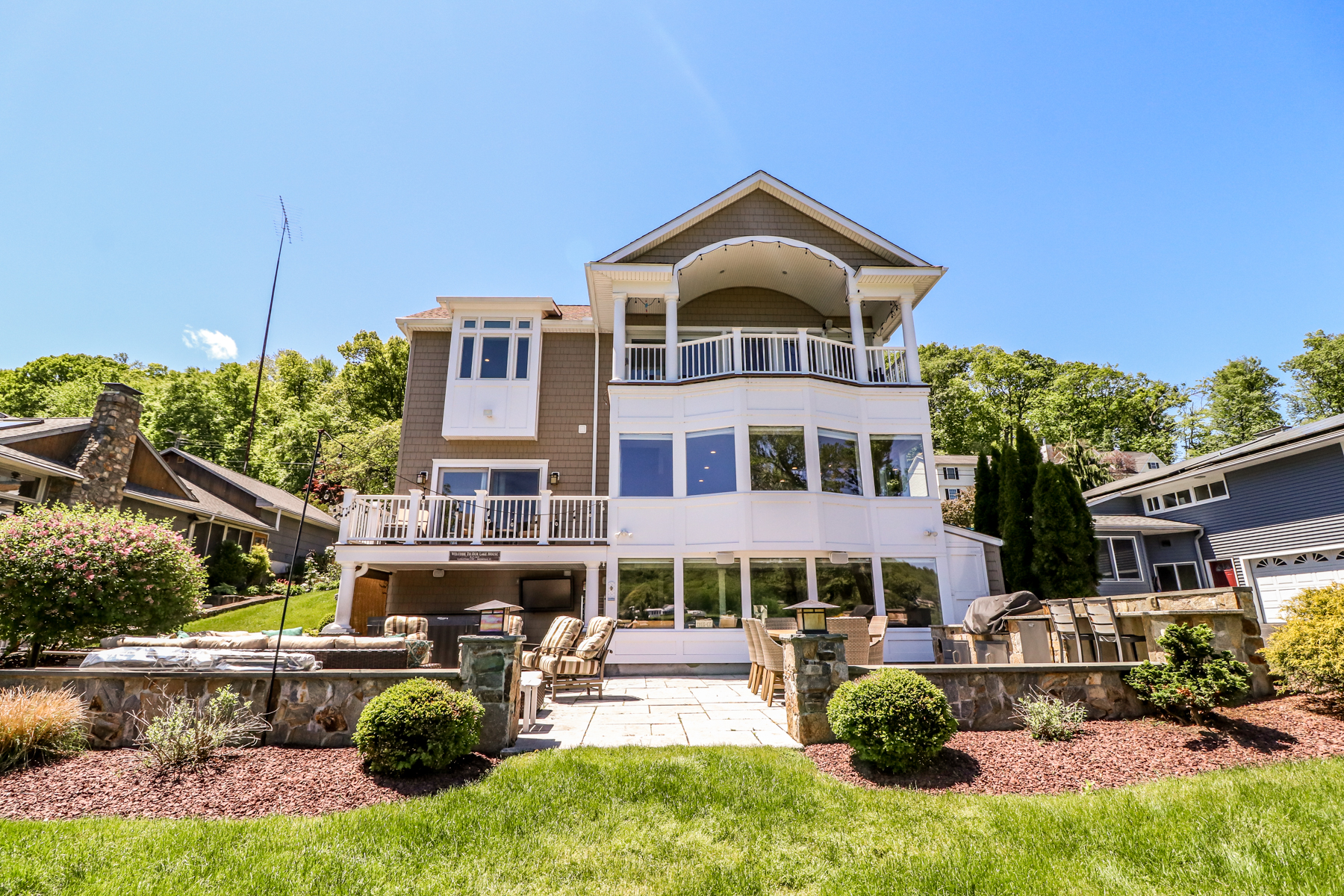 single family homes for Sale at Masterfully Transformed Lakefront Contemporary 78 North Lake Shore Drive, Brookfield, Connecticut 06804 United States