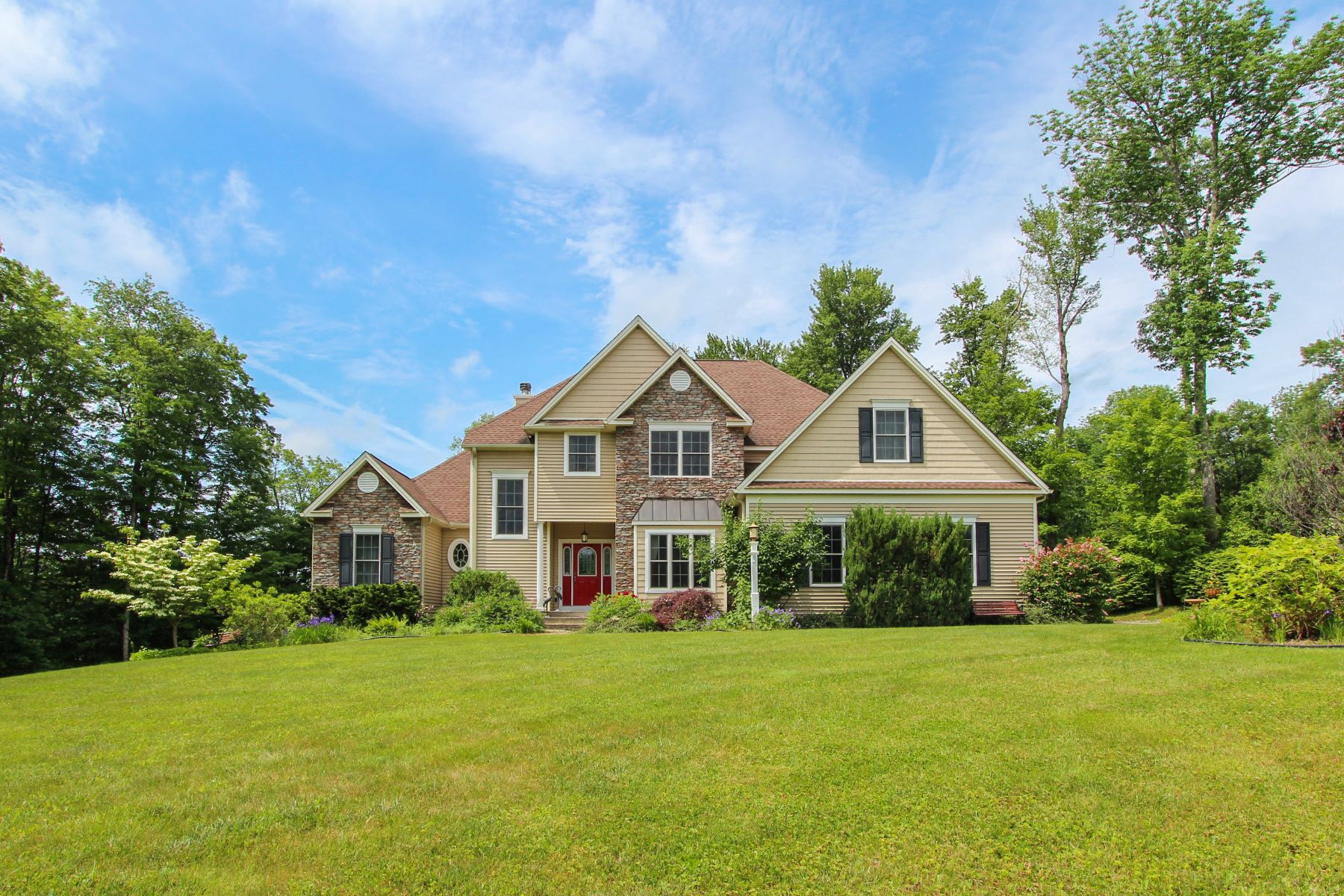 Single Family Home for Sale at Timberlake Colonial with Seasonal Views! 9 Falcon Ridge Rd Torrington, Connecticut 06790 United States