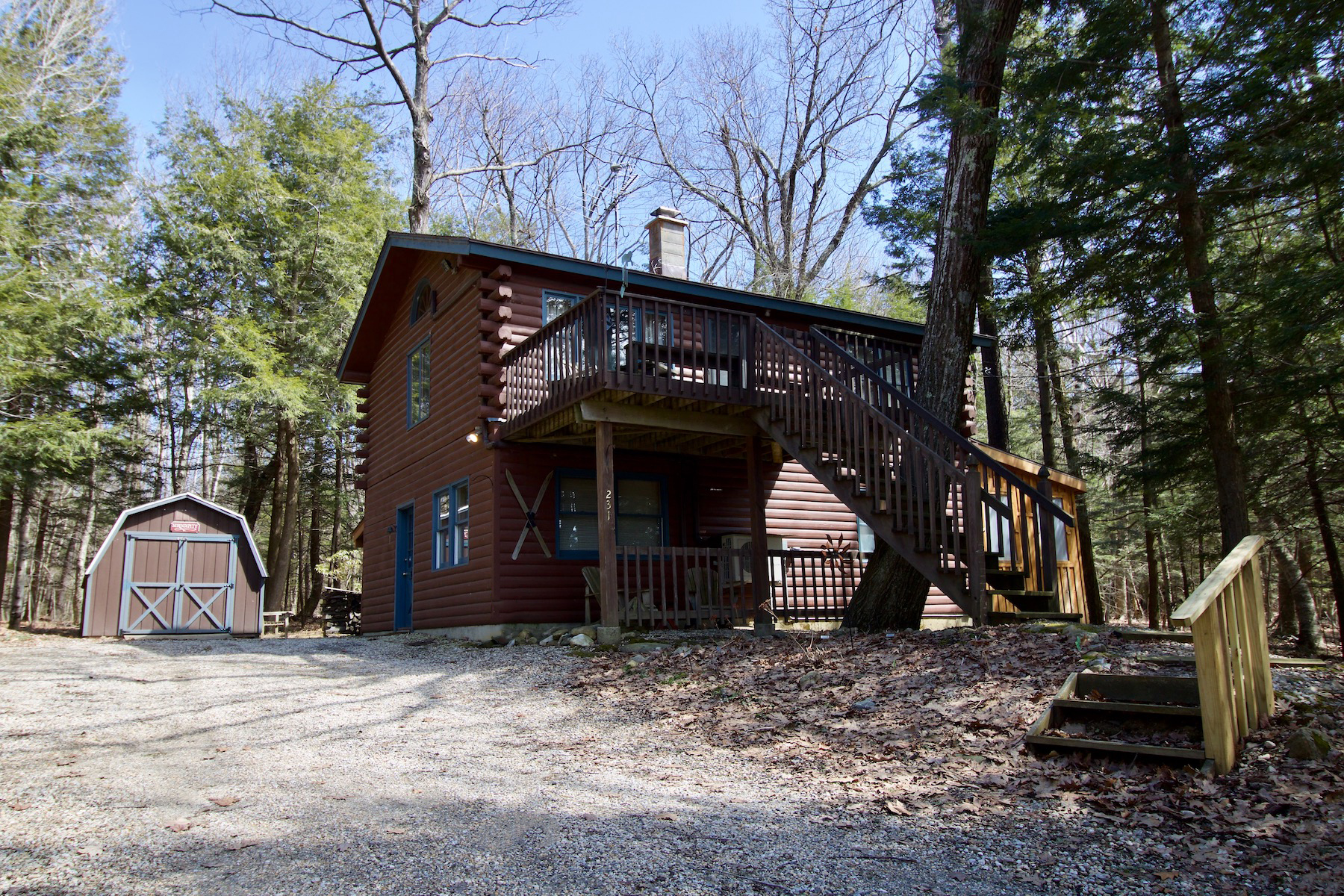 Single Family Home for Active at Adorable and Affordable Log Home with Lake Views 231 Sherwood Dr Becket, Massachusetts 01223 United States