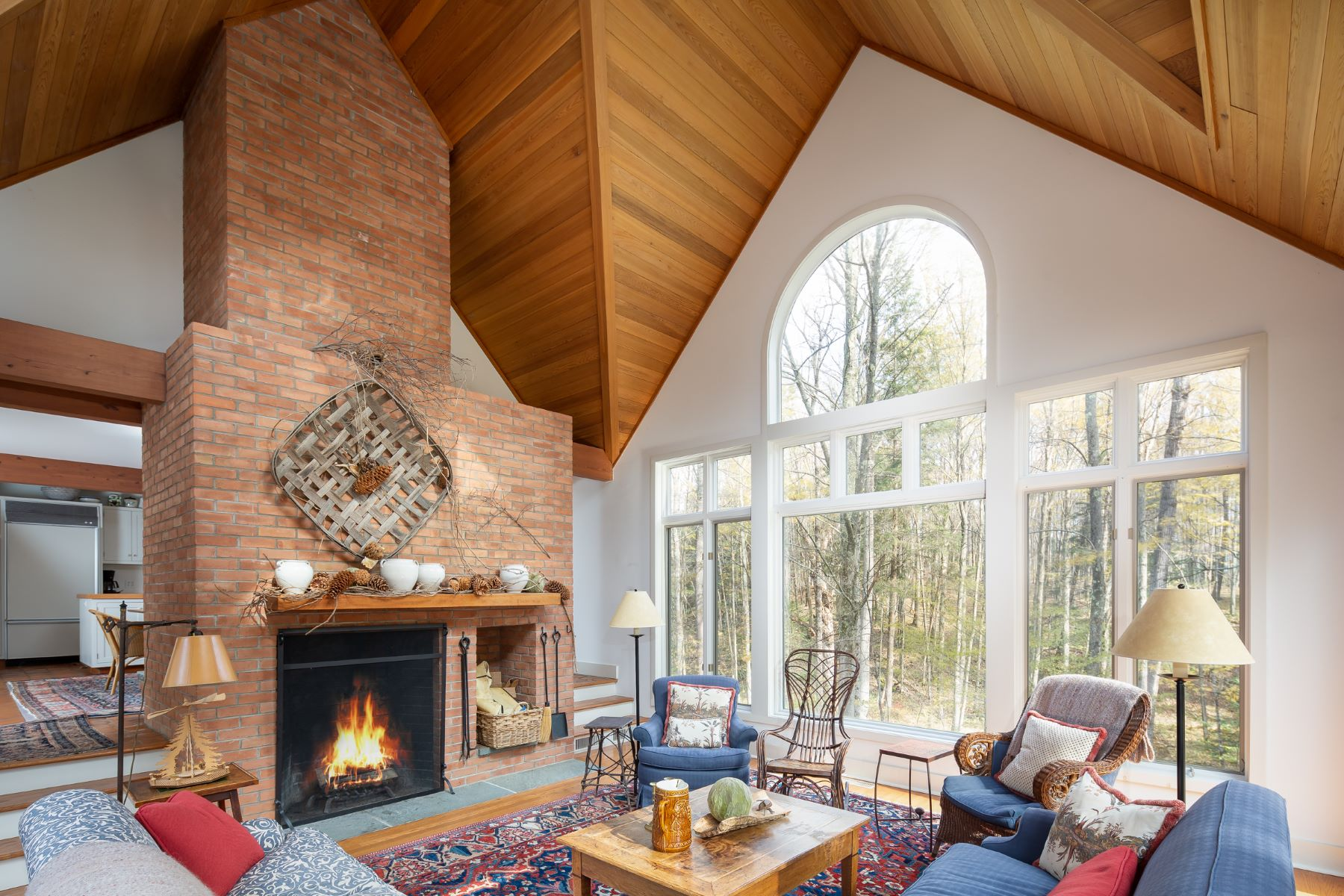Single Family Homes for Sale at Tranquil Contemporary on a 13.5 Acre Wooded Lot 1499 Mill River Great Barrington Rd New Marlborough, Massachusetts 01230 United States