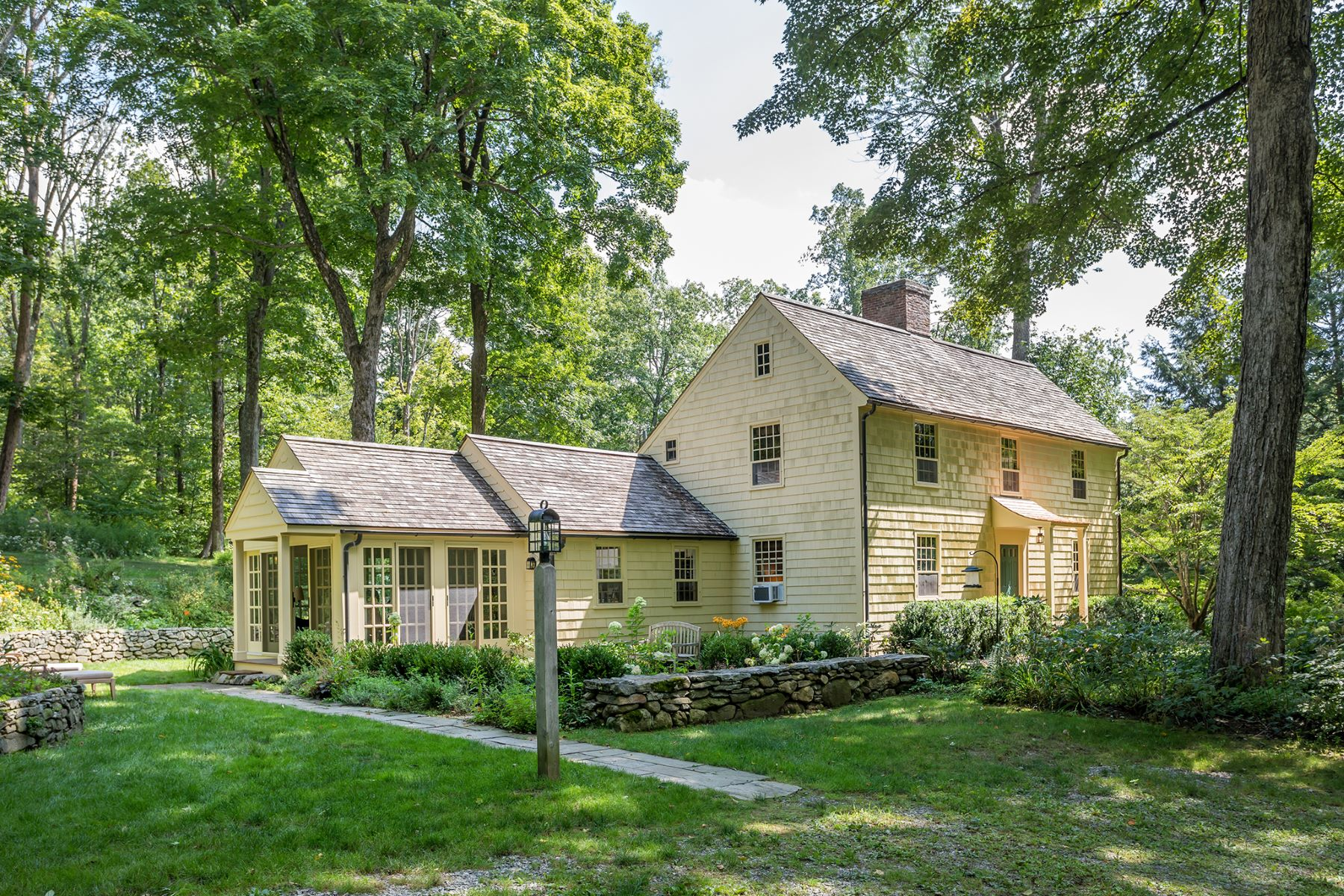 Single Family Homes for Sale at Antique Historic Cape 462 Milton Road Litchfield, Connecticut 06759 United States