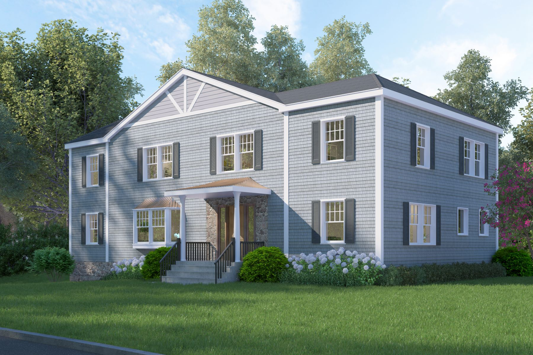 Single Family Homes for Sale at NEW CONSTRUCTION Center Hall Colonial 7 Shady Road Ardsley, New York 10502 United States