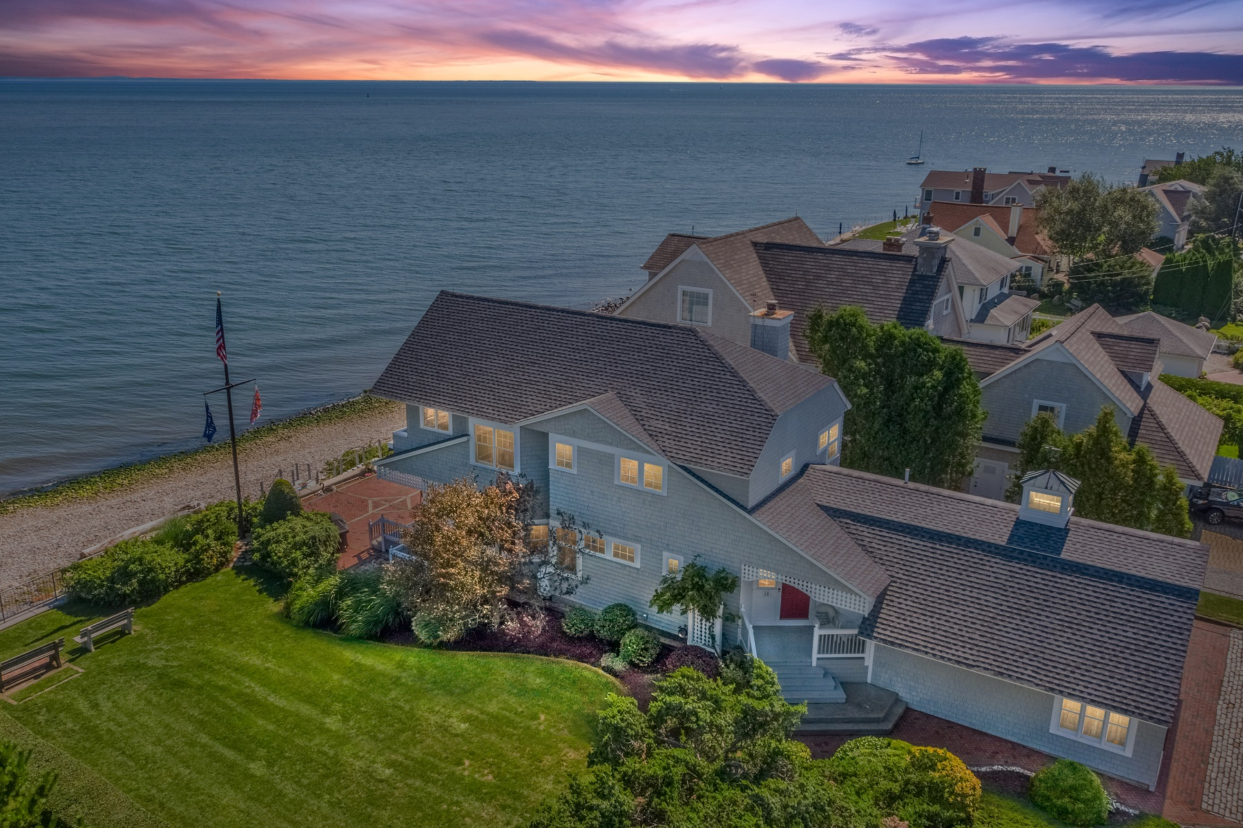Single Family Homes for Sale at Direct Waterfront - Pure Paradise 18 Sea Lane, Old Saybrook, Connecticut 06475 United States