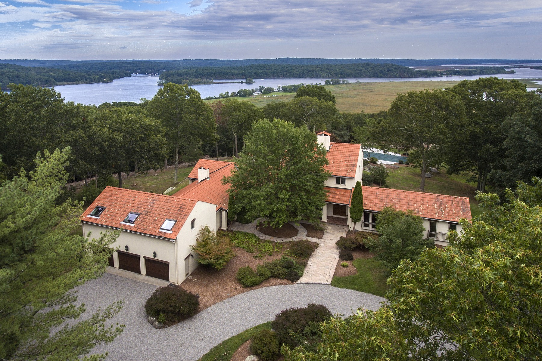 Single Family Home for Sale at Extraordinary European Designed Home on 10+ Acres 120 River Road Essex, Connecticut 06426 United States