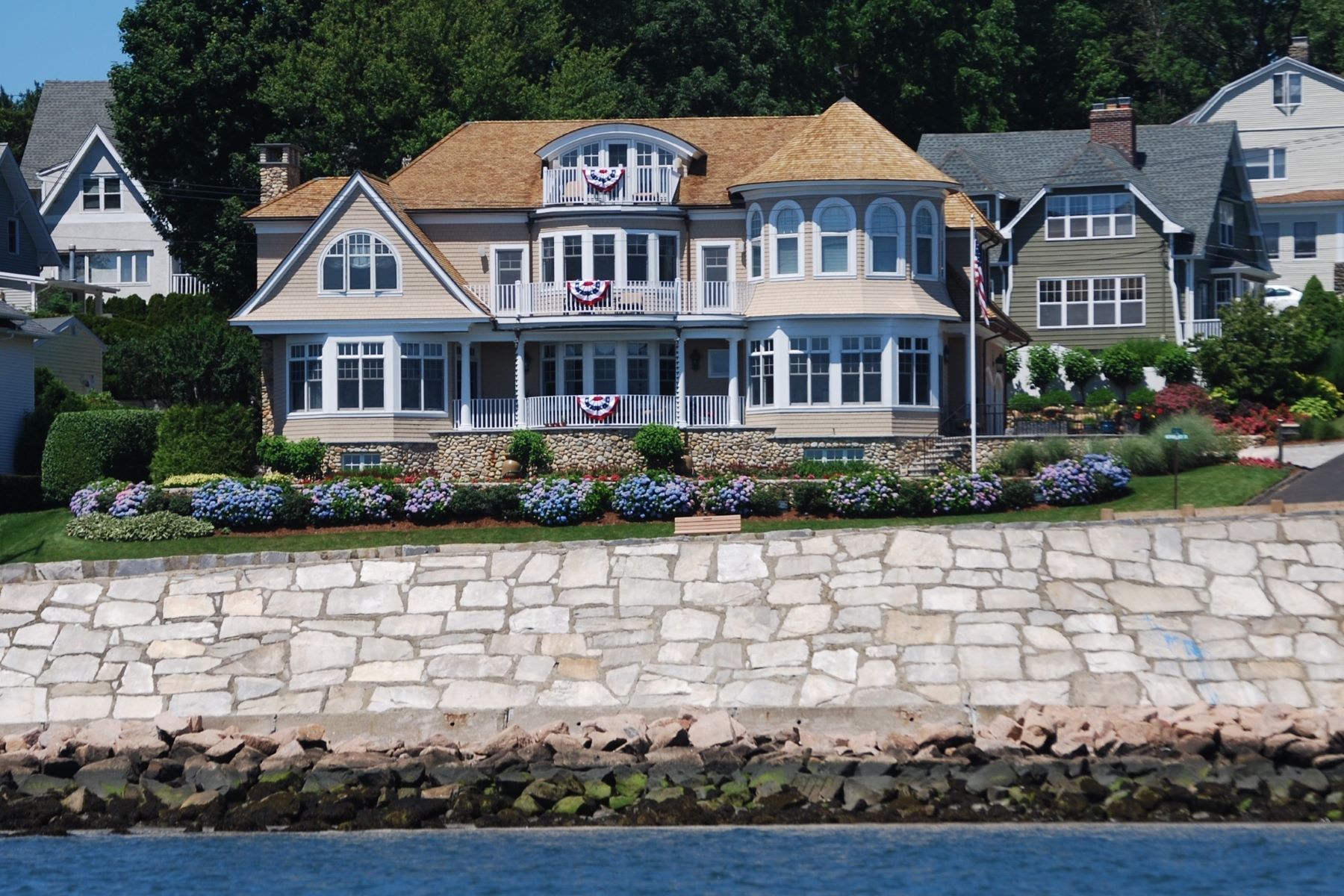 single family homes for Sale at Luxurious Waterfront Living! 65 Morningside Drive, Milford, Connecticut 06460 United States