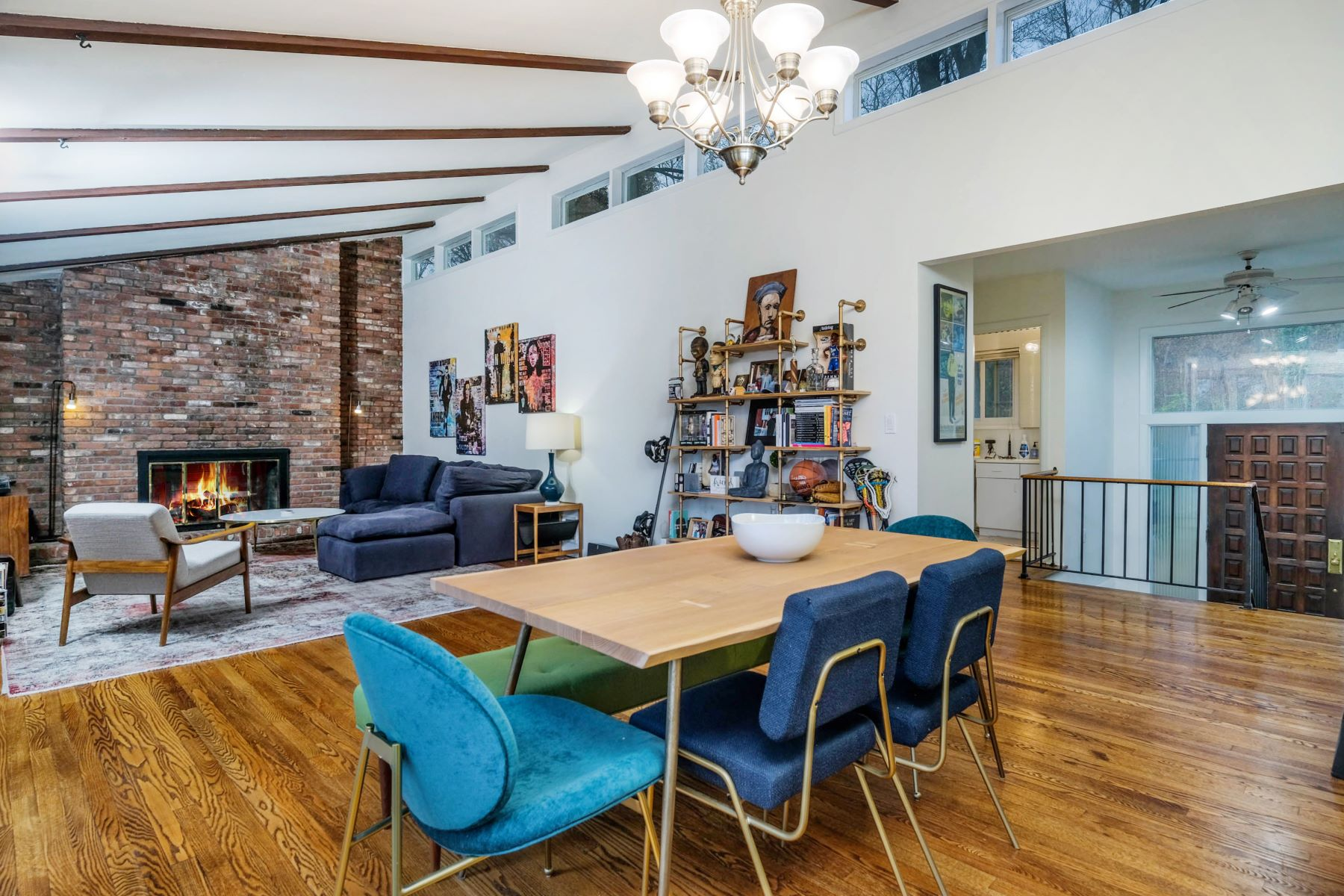 Single Family Homes for Sale at Contemporary Mid-Century Modern Feeling Home 110 N Healy Avenue Hartsdale, New York 10530 United States