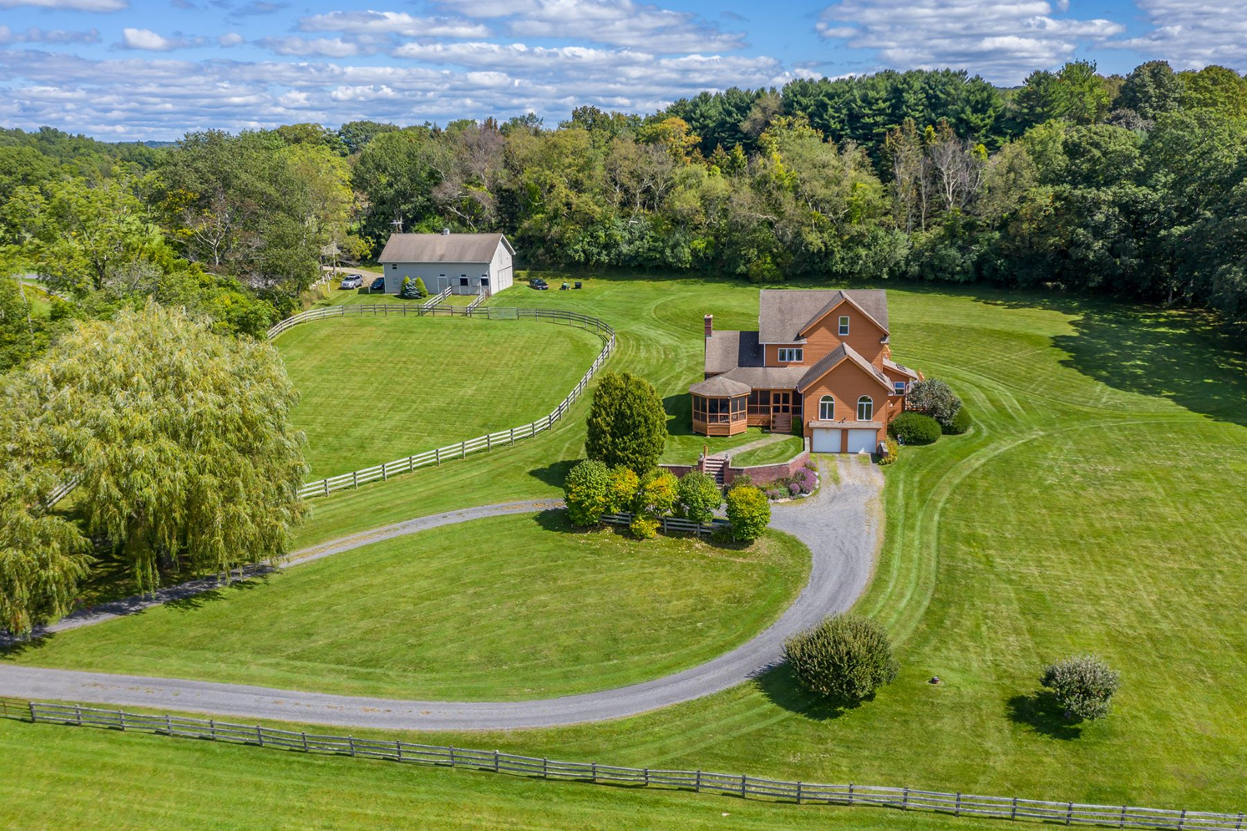 Single Family Homes for Active at Contemporary Farmhouse on 10 Beautiful, Open Acres 91 Fairchild Road Sharon, Connecticut 06069 United States