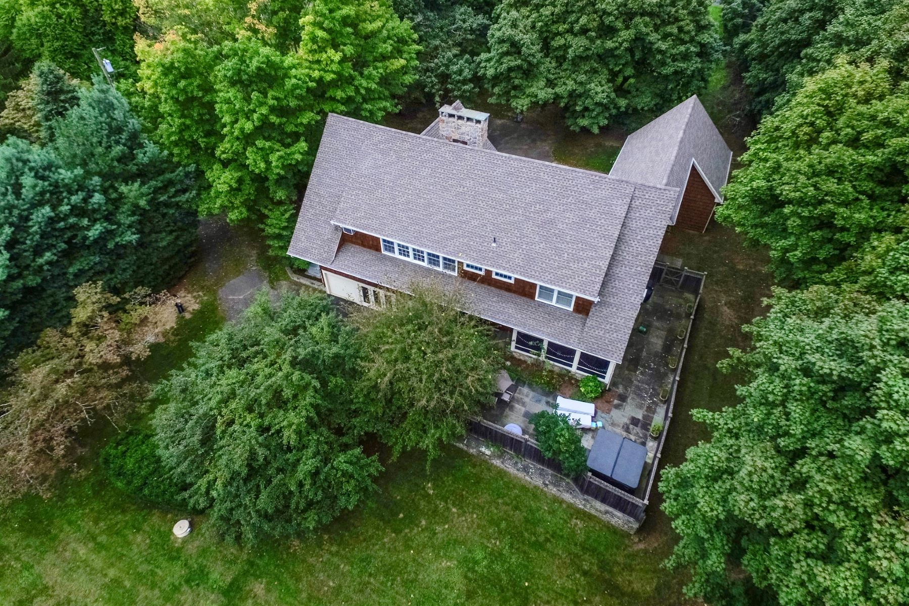 Single Family Home for Sale at Stunning Stone & Cedar Contemporary 12 Overlook Terrace Danbury, Connecticut 06811 United States