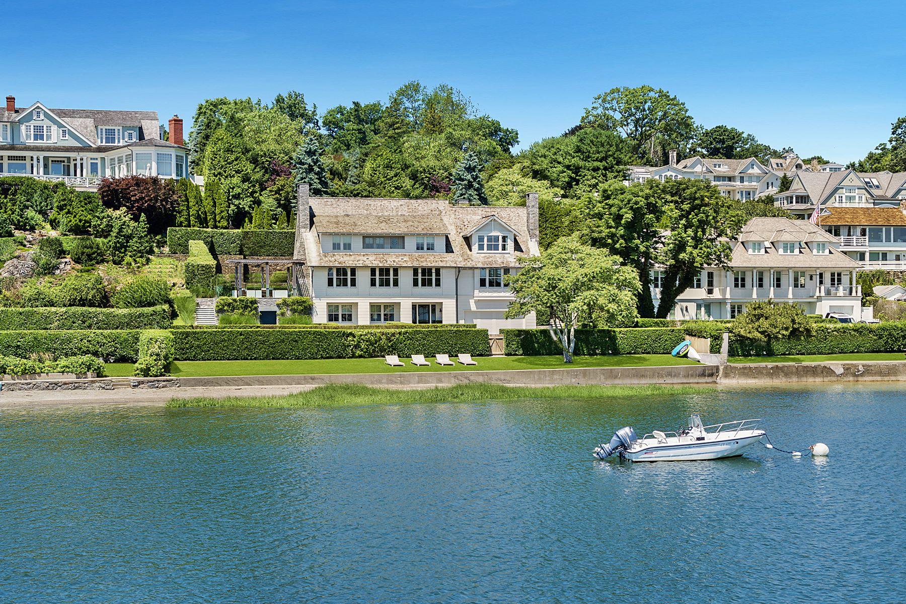 Single Family Homes for Sale at Extraordinary, One-of-a Kind Property Situated on Compo Beach 250 Hillspoint Road Westport, Connecticut 06880 United States