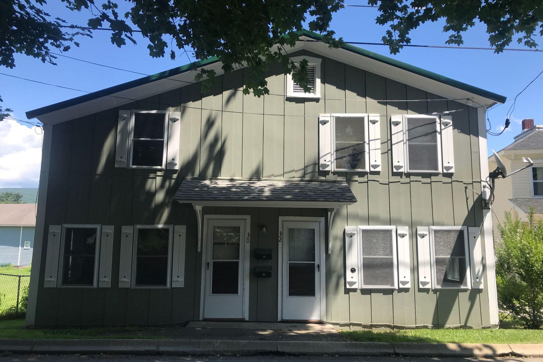 Multi-Family Homes por un Venta en Renovated Two Unit Townhouse - Excellent Investment Opportunity! 30-32 Temple St Adams, Massachusetts 01220 Estados Unidos