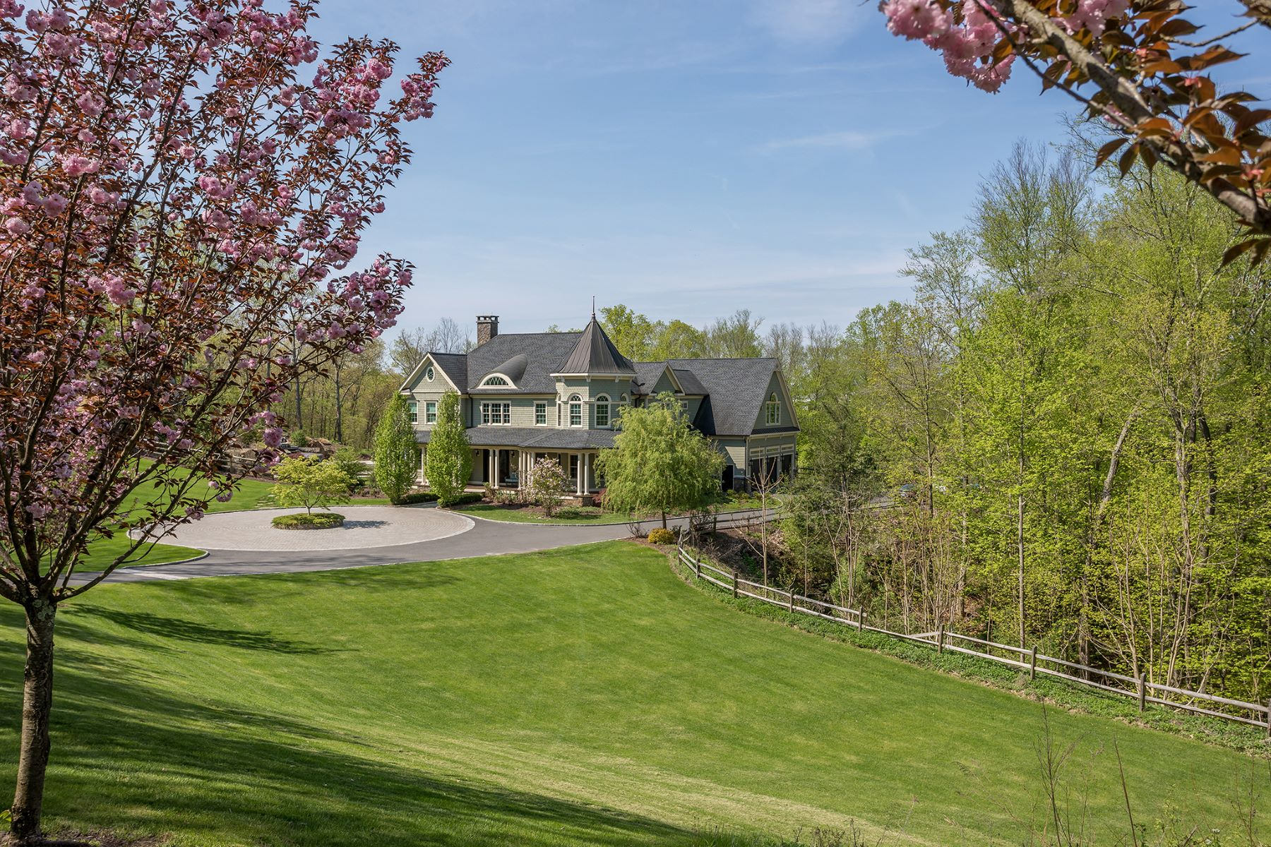 Single Family Homes for Sale at Impressive Colonial Accented with Spectacular Pool 31 Stuart Road East, Bridgewater, Connecticut 06752 United States