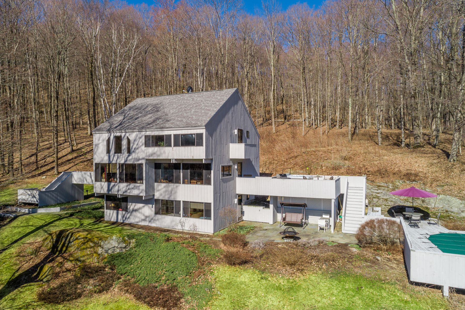 Single Family Home for Active at Light Filled Custom Contemporary 48 Victoria Ln Lanesboro, Massachusetts 01237 United States