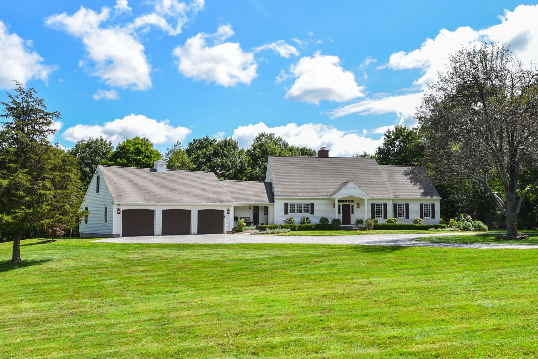 Single Family Home for Sale at Newly Renovated Cape, 11 Acres, Pond and Barn 171 Chestnut Hill Rd Litchfield, Connecticut 06759 United States