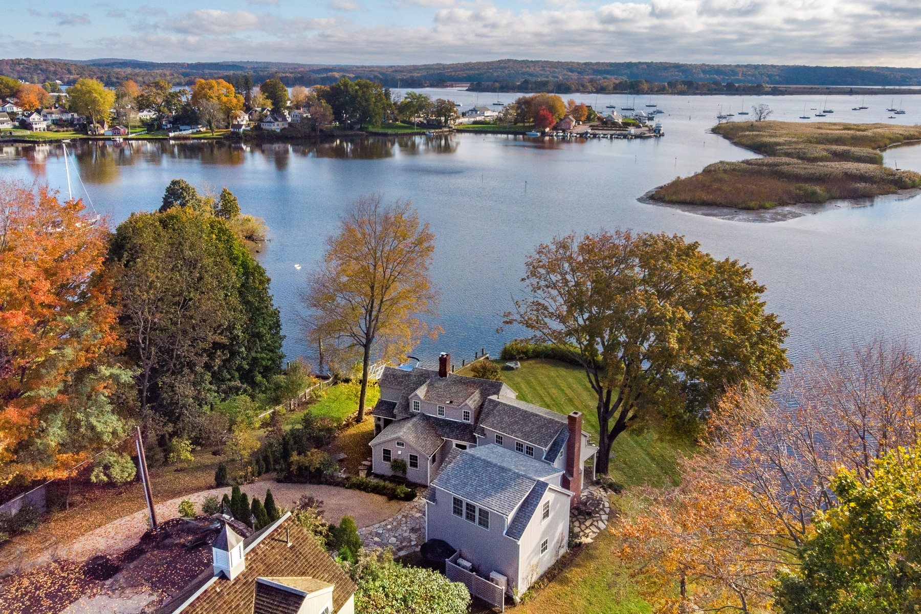 Single Family Homes for Sale at The Most Romantic Water Front Setting Imaginable 36 Mack Lane Essex, Connecticut 06426 United States