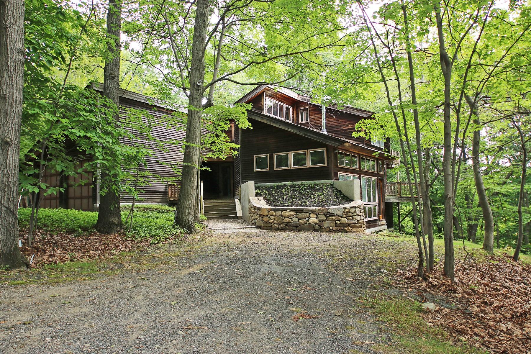 """独户住宅 为 销售 在 The Ultimate """"Green"""" Tree House 41 Blacksmith Ridge Road 里奇菲尔德, 康涅狄格州 06877 美国"""