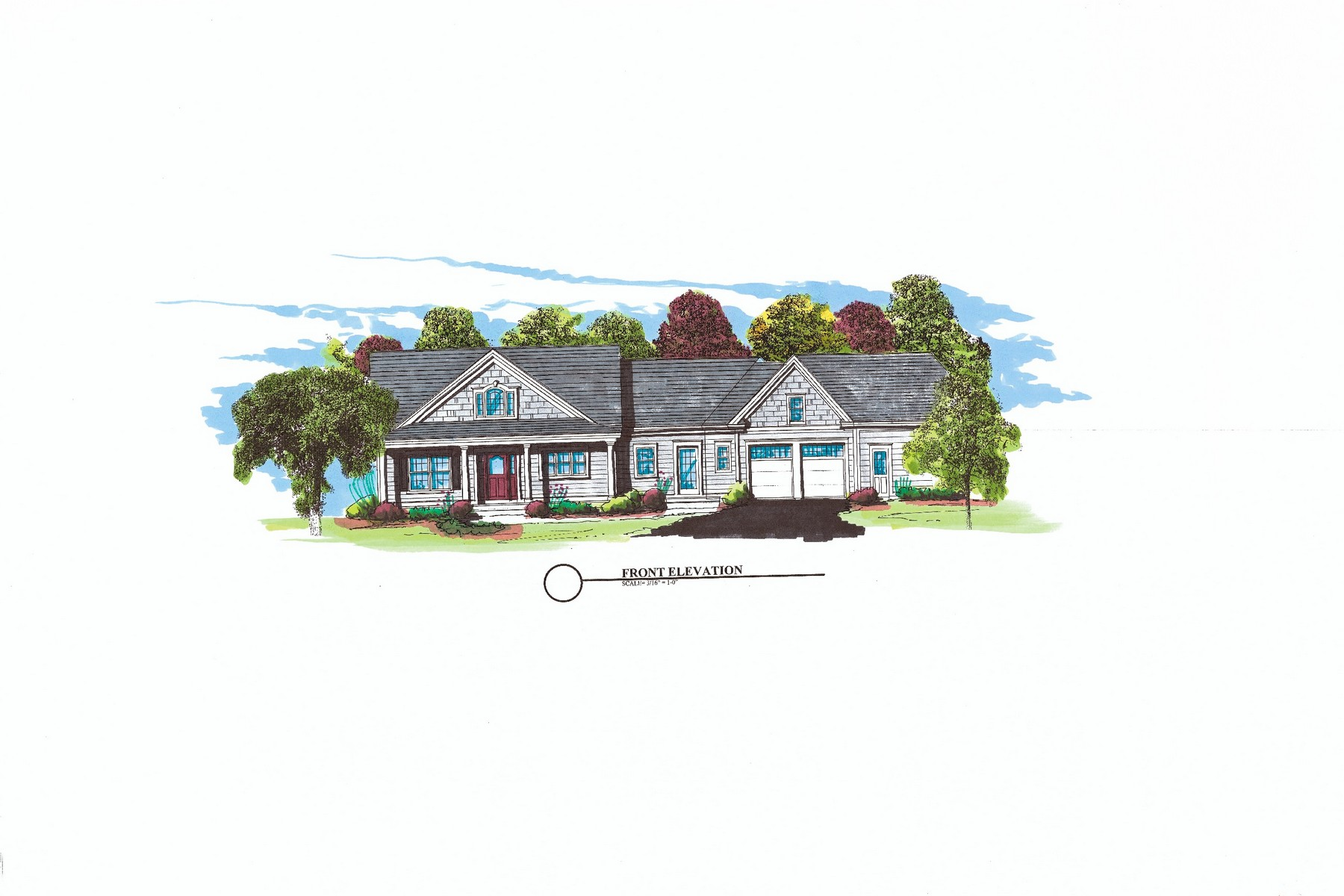 Vivienda unifamiliar por un Venta en Ranch Style Home To Be Built on 2.13 Acres 16 Hill Road Old Saybrook, Connecticut, 06475 Estados Unidos