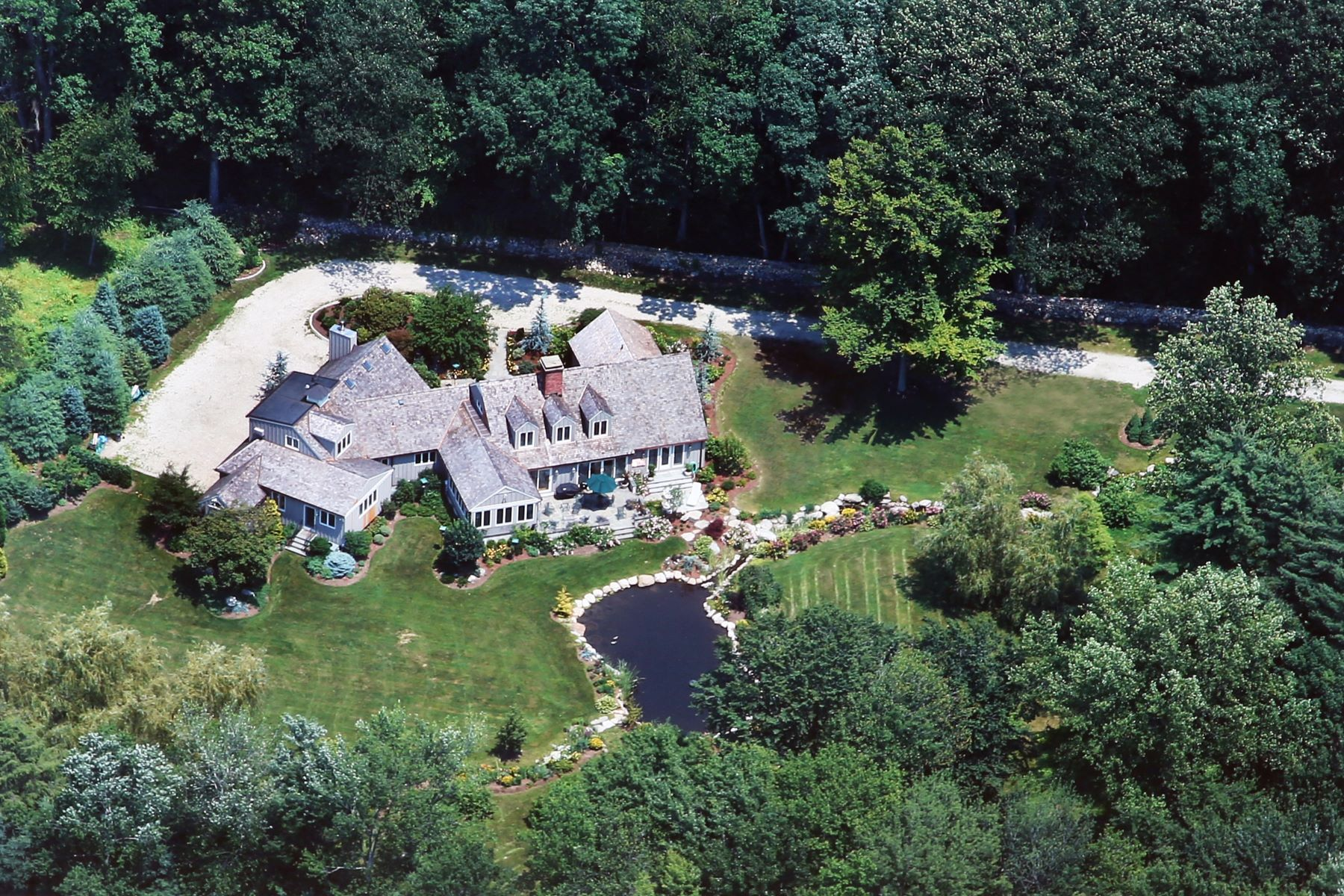 Single Family Home for Sale at Magnificent, Private Gated Custom Home in Greenfield Hill 160 Longmeadow Road, Fairfield, Connecticut, 06824 United States