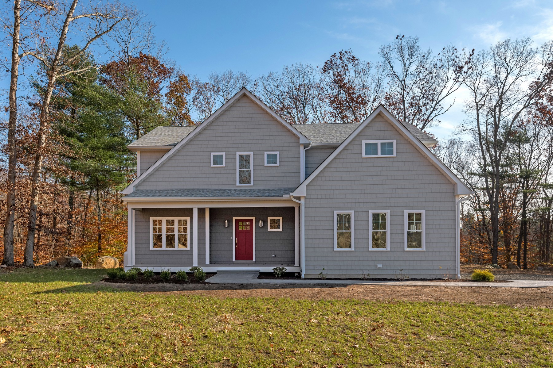 Single Family Homes for Sale at Walnut Hill - A Collection of 9 Homes 1 Farm Meadow Road East Lyme, Connecticut 06333 United States