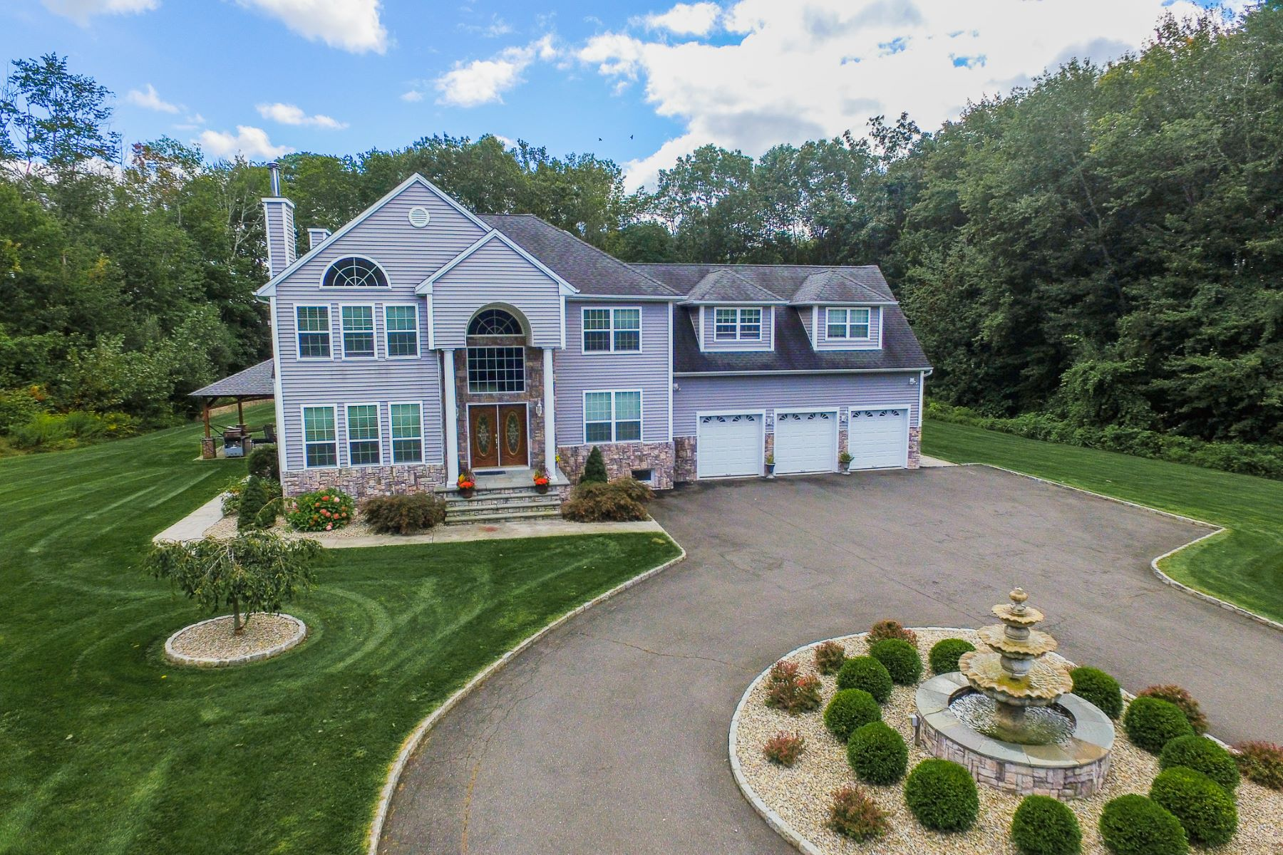 Single Family Home for Sale at Private And Tranquil Custom Colonial 14 Indian Spring Road Danbury, Connecticut 06811 United States