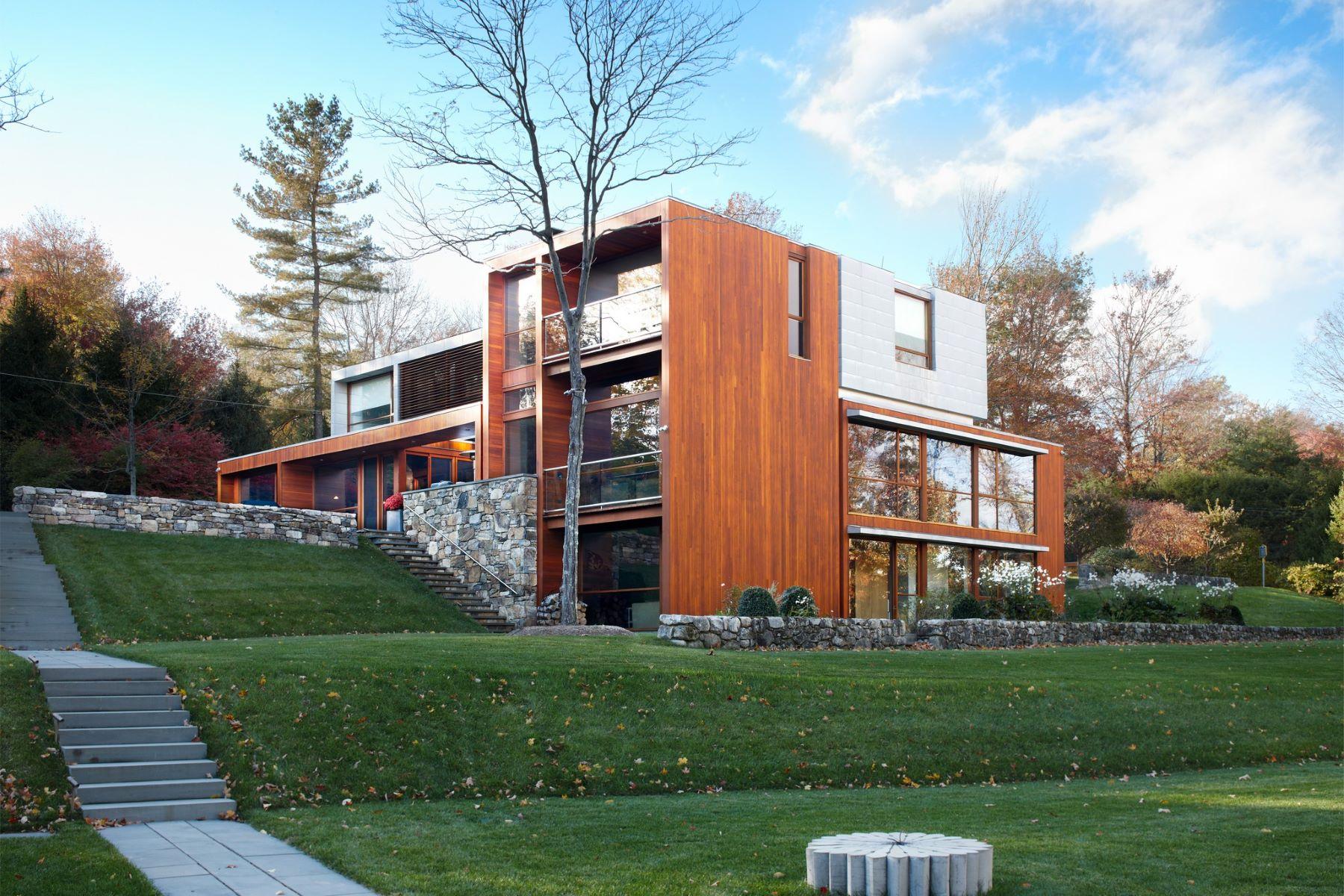 Частный односемейный дом для того Продажа на 81 Cross Ridge Road New Canaan, Коннектикут, 06840 Соединенные Штаты